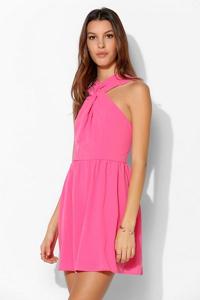 Keepsake Awakening Fit Flare Mini Dress In Pink Lyst