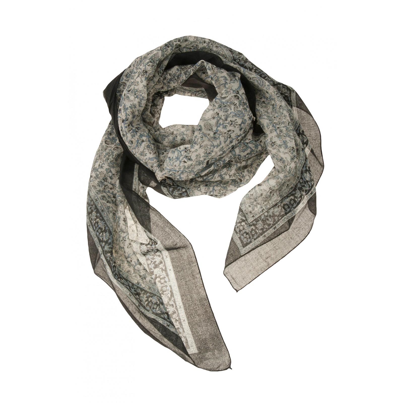 chan luu sm floral scarf in black lyst
