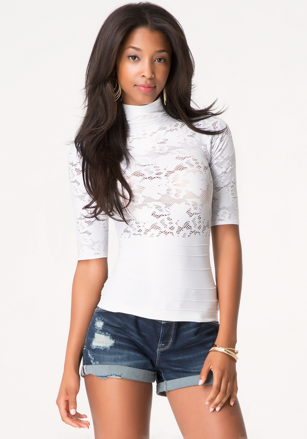 White Crew Neck T Shirt Women S
