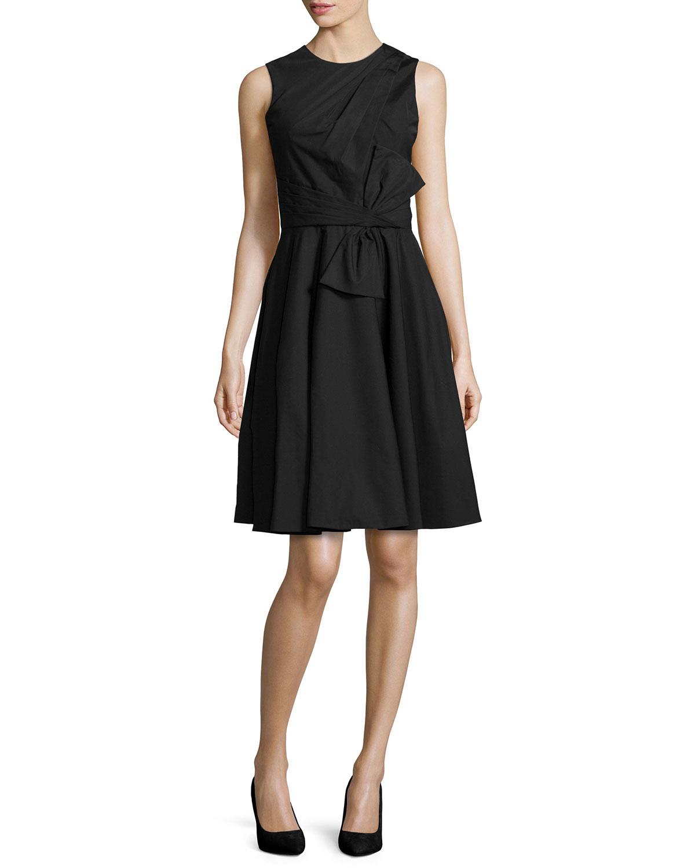 Prabal gurung Sleeveless Cross-front Dress in Black | Lyst