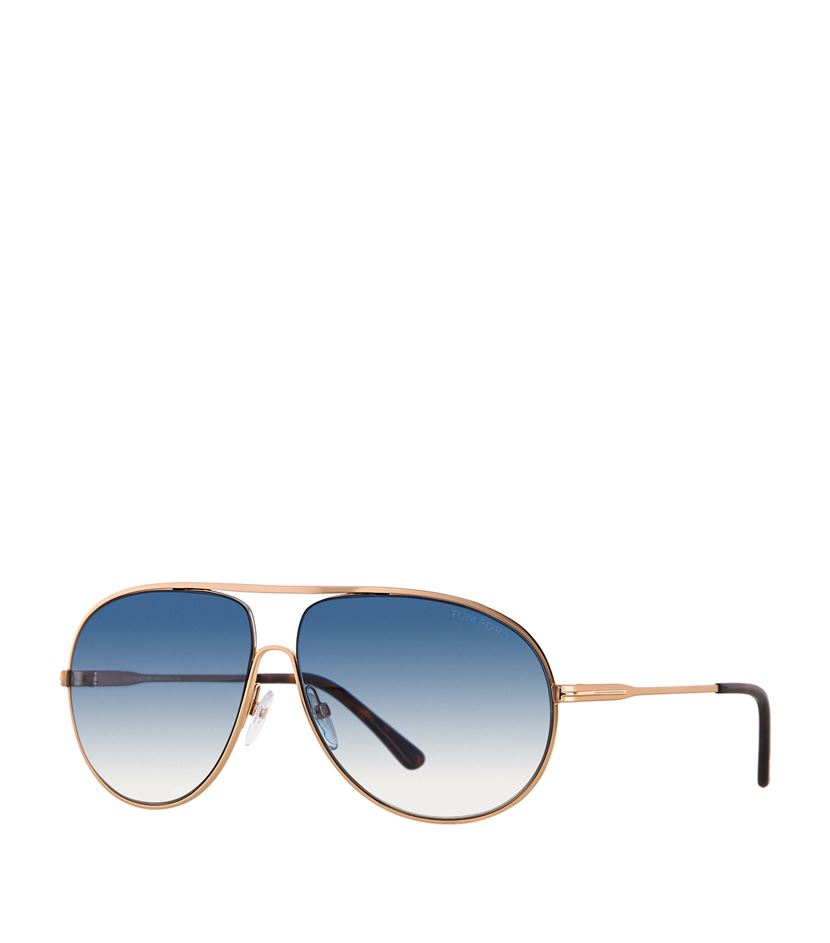 d0fcc0999c01c Tom Ford Cliff Aviator Sunglasses in Metallic - Lyst
