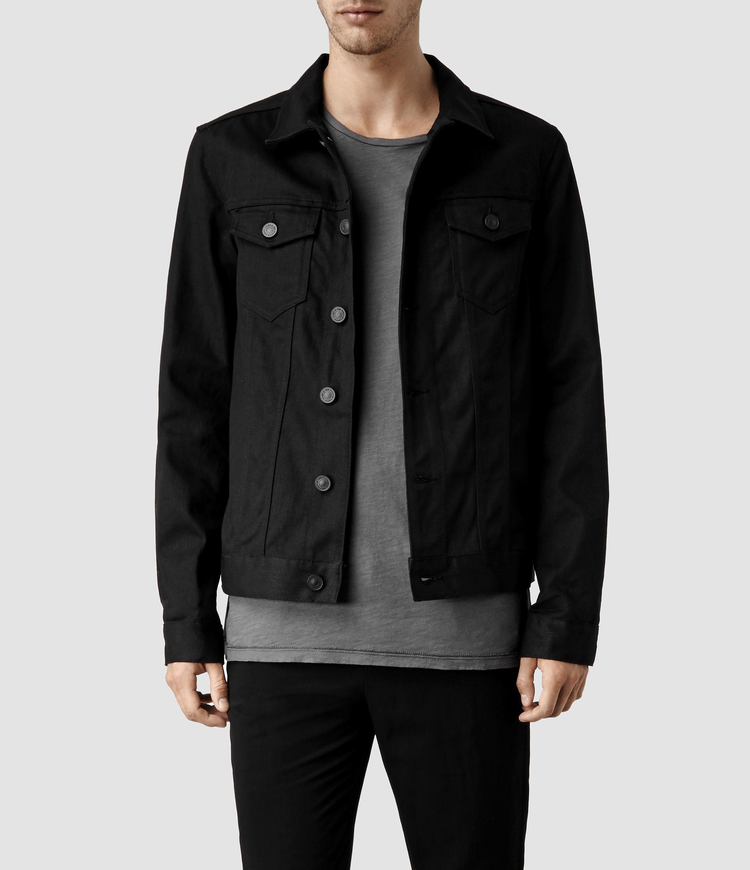 AllSaints Nitrate Denim Jacket in Black for Men