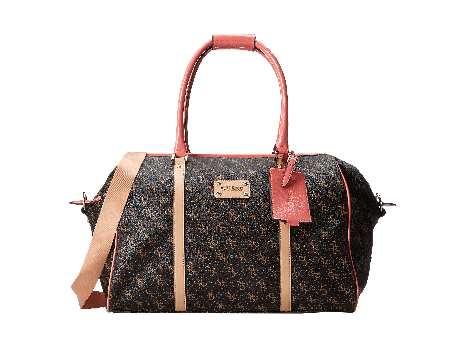 f85ea4674587 Lyst - Guess Logo Affair Doctor Tote Bag in Brown