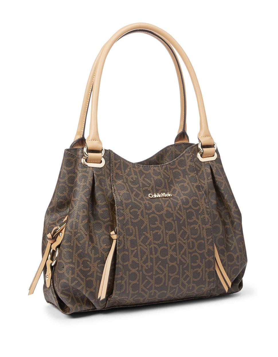 calvin klein hudson shopper bag in brown lyst. Black Bedroom Furniture Sets. Home Design Ideas