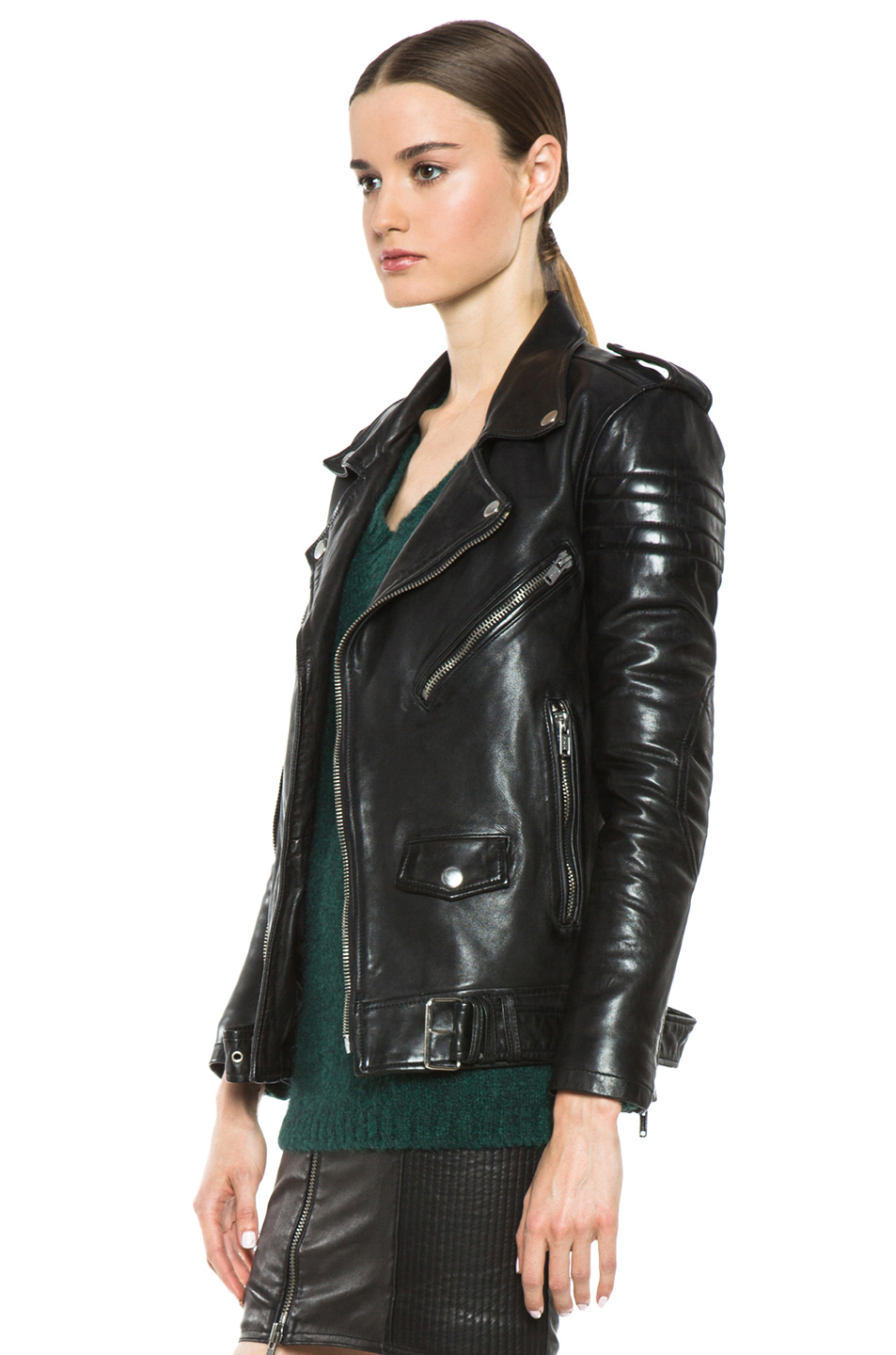 Lyst - Blk Dnm Leather Motorcycle Jacket In Black-3100