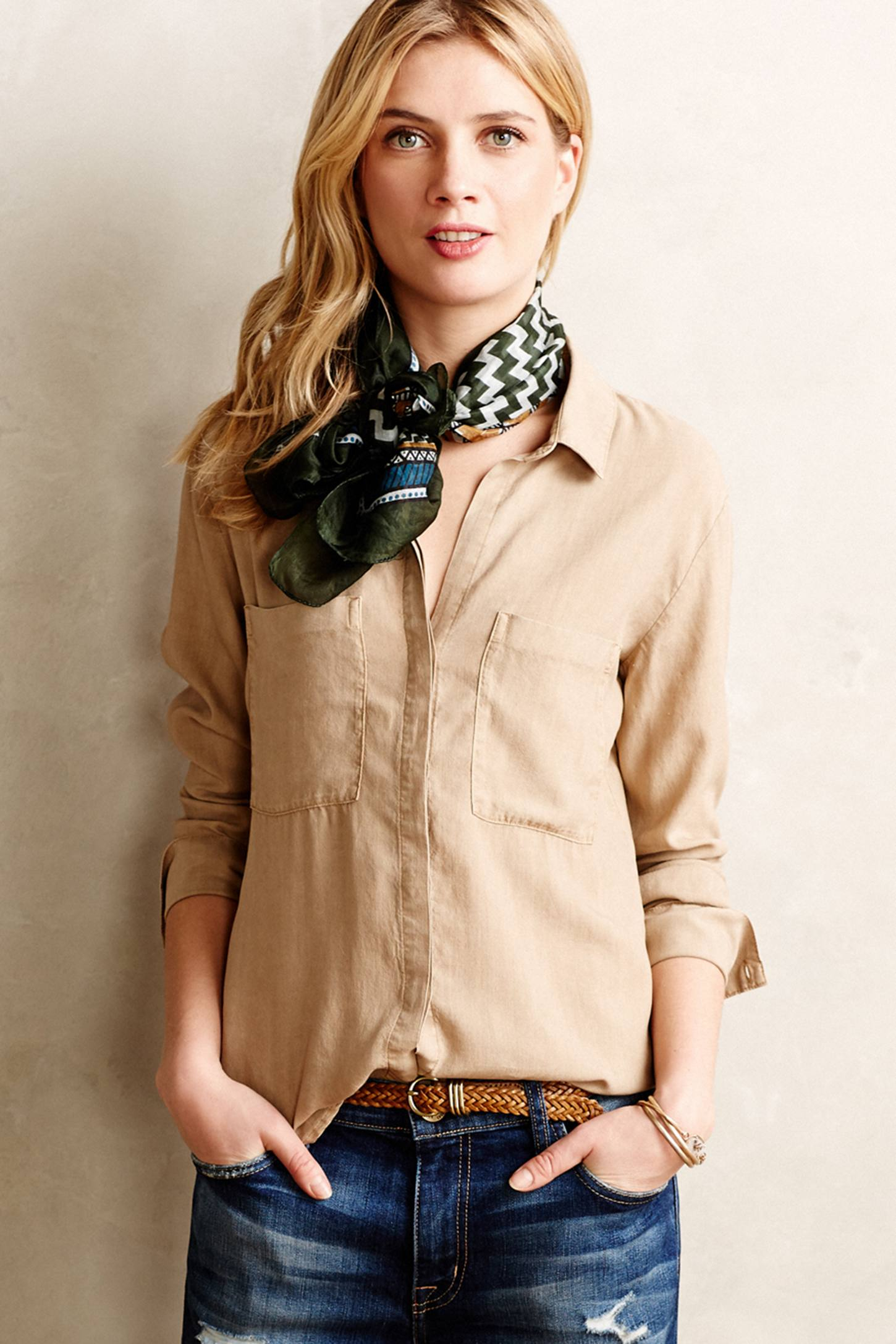 Lyst Cloth Amp Stone Lilith Buttondown In Natural