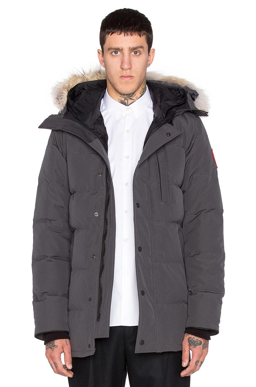 Canada Goose kensington parka online price - Canada goose Carson Coyote Fur Trim Parka in Gray for Men ...
