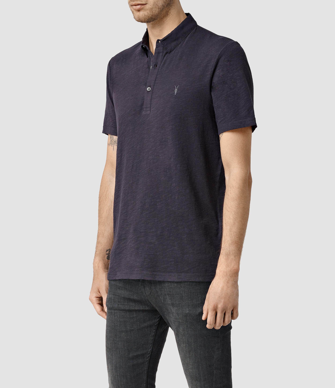 AllSaints Henning Polo Shirt in Purple for Men