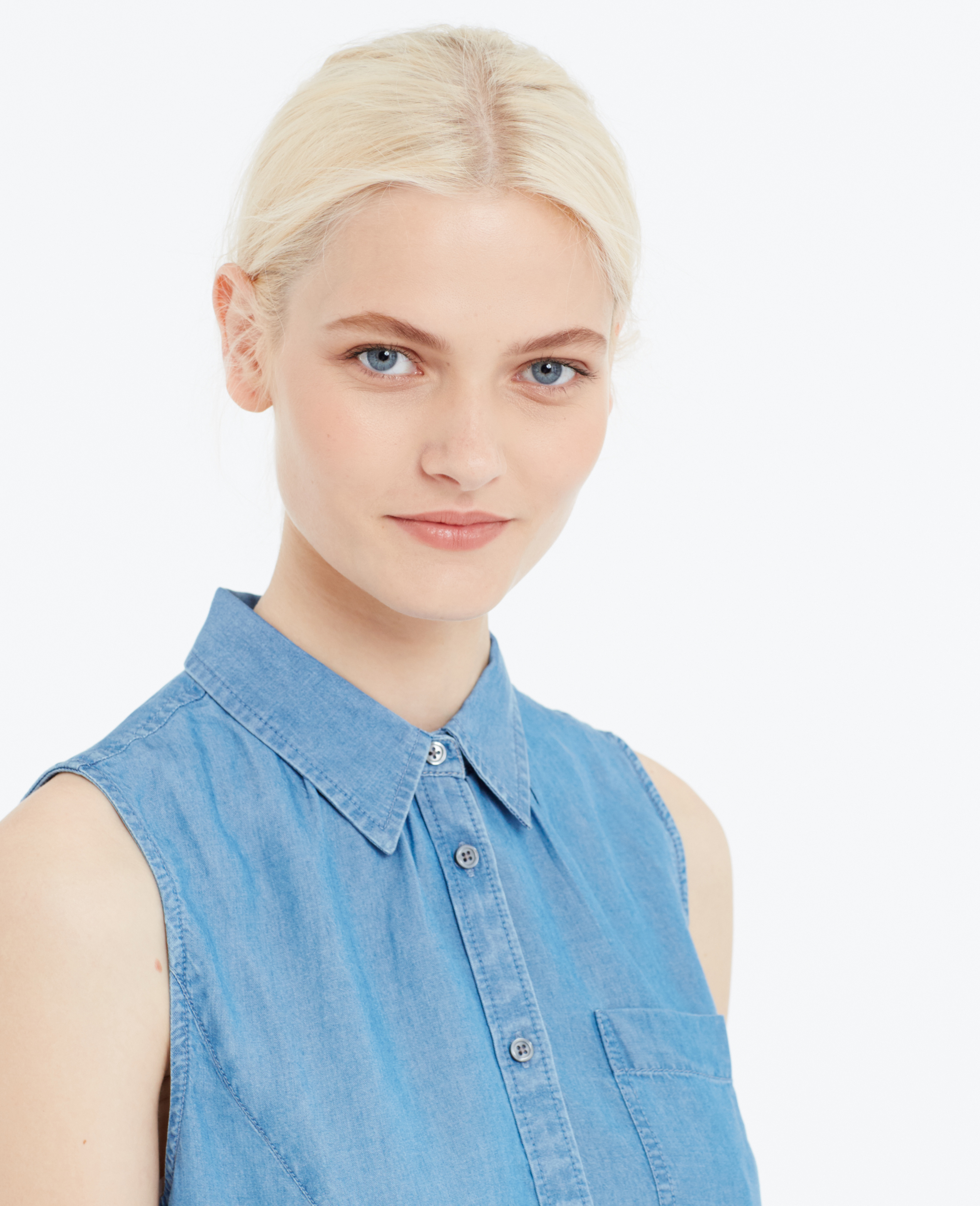 Ann taylor Petite Sleeveless Chambray Shirt in Blue (Oceanside Chambray)   Lyst - ann-taylor-oceanside-chambray-petite-sleeveless-chambray-shirt-blue-product-2-062242924-normal