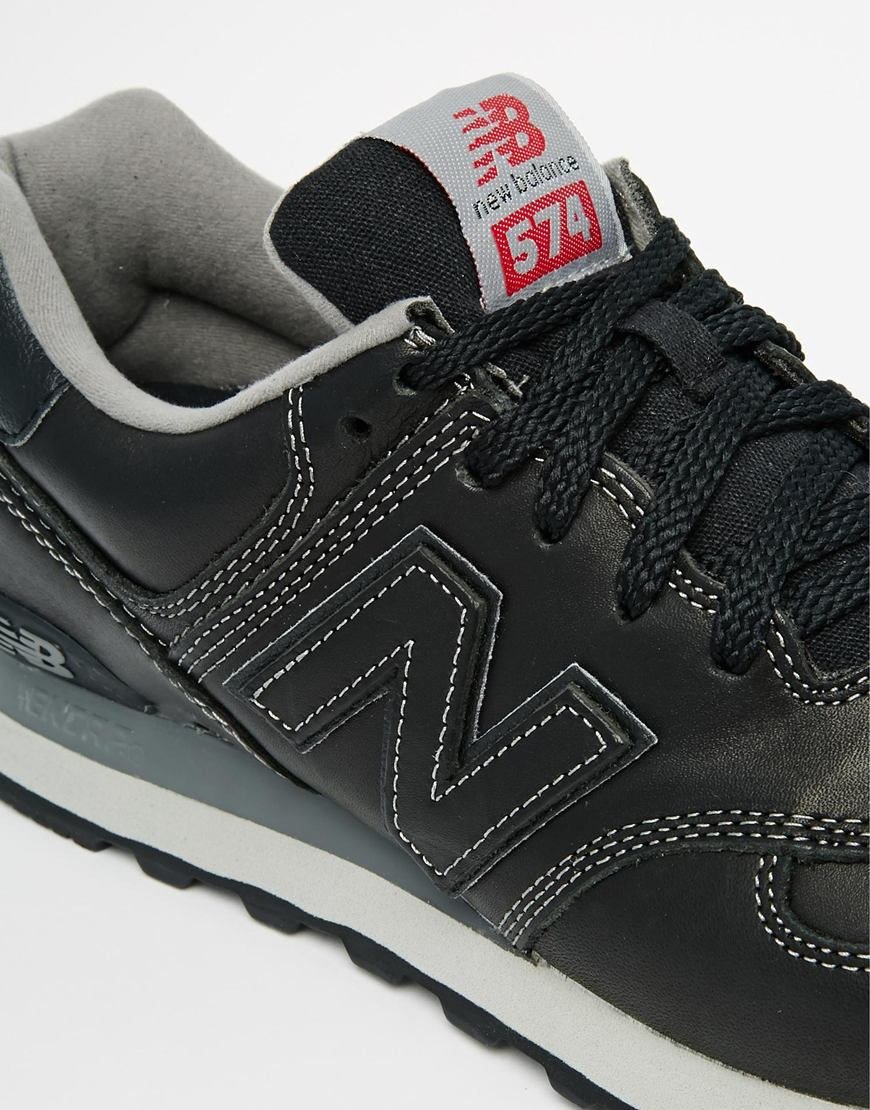new balance ml574 leather fur schoenen