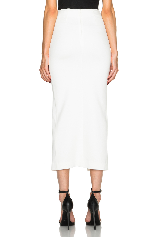 nicholas ponti split maxi pencil skirt in white lyst