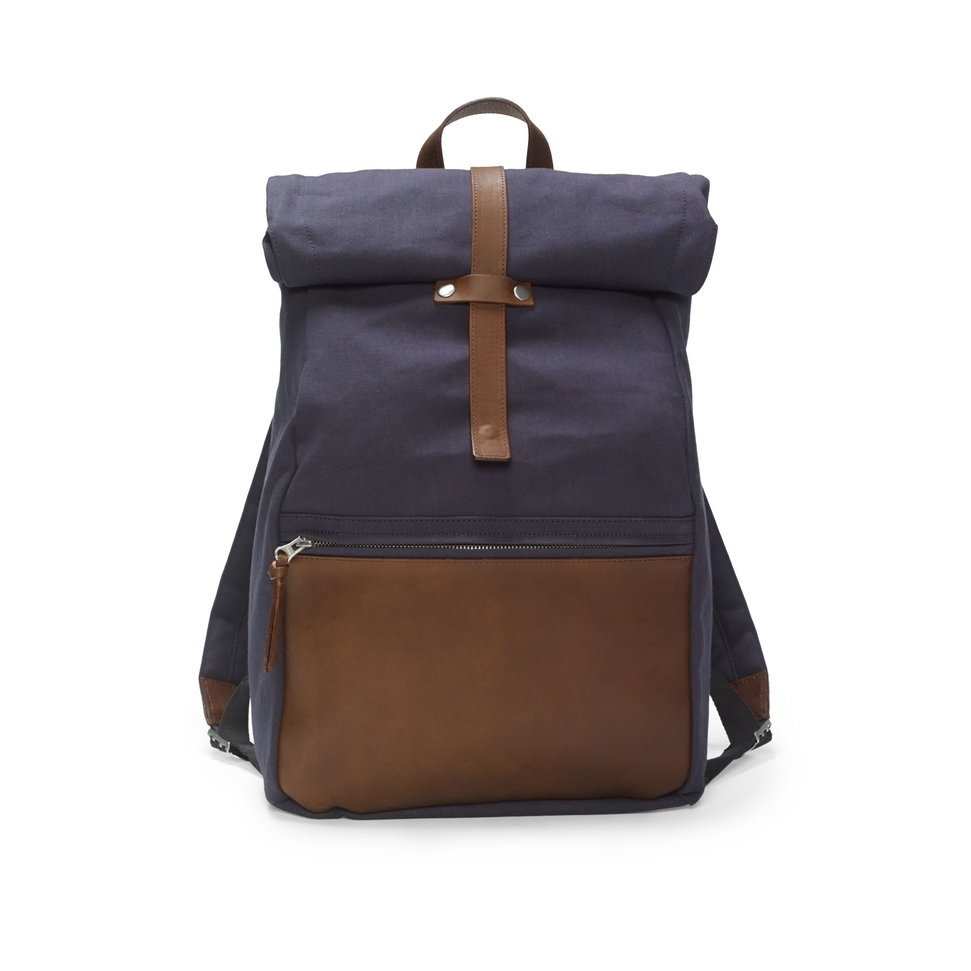 Club Monaco Canvas Roll Top Backpack In Blue For Men Lyst