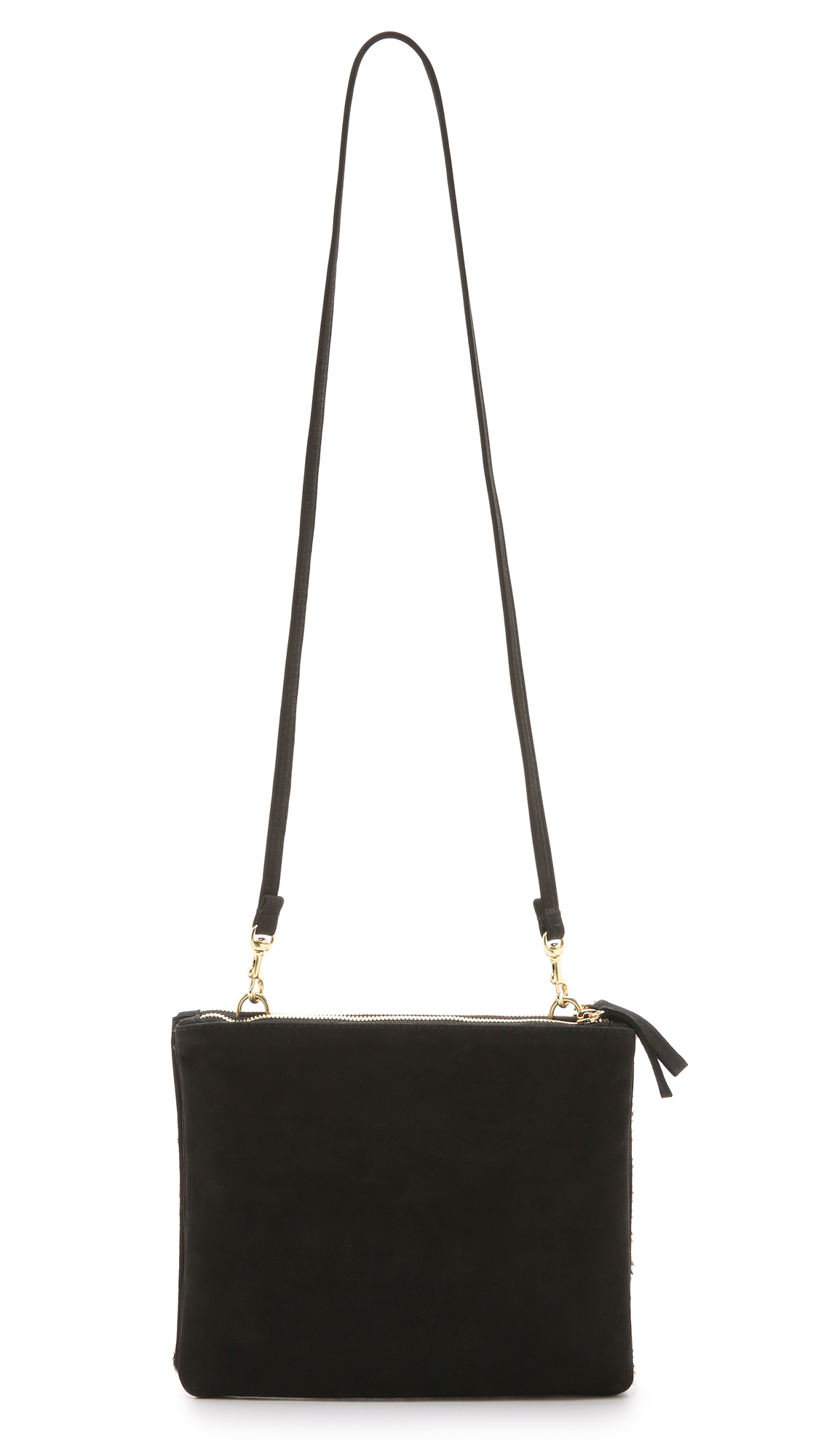 Clare V. Suede Double Sac Bretelle Cross Body Bag