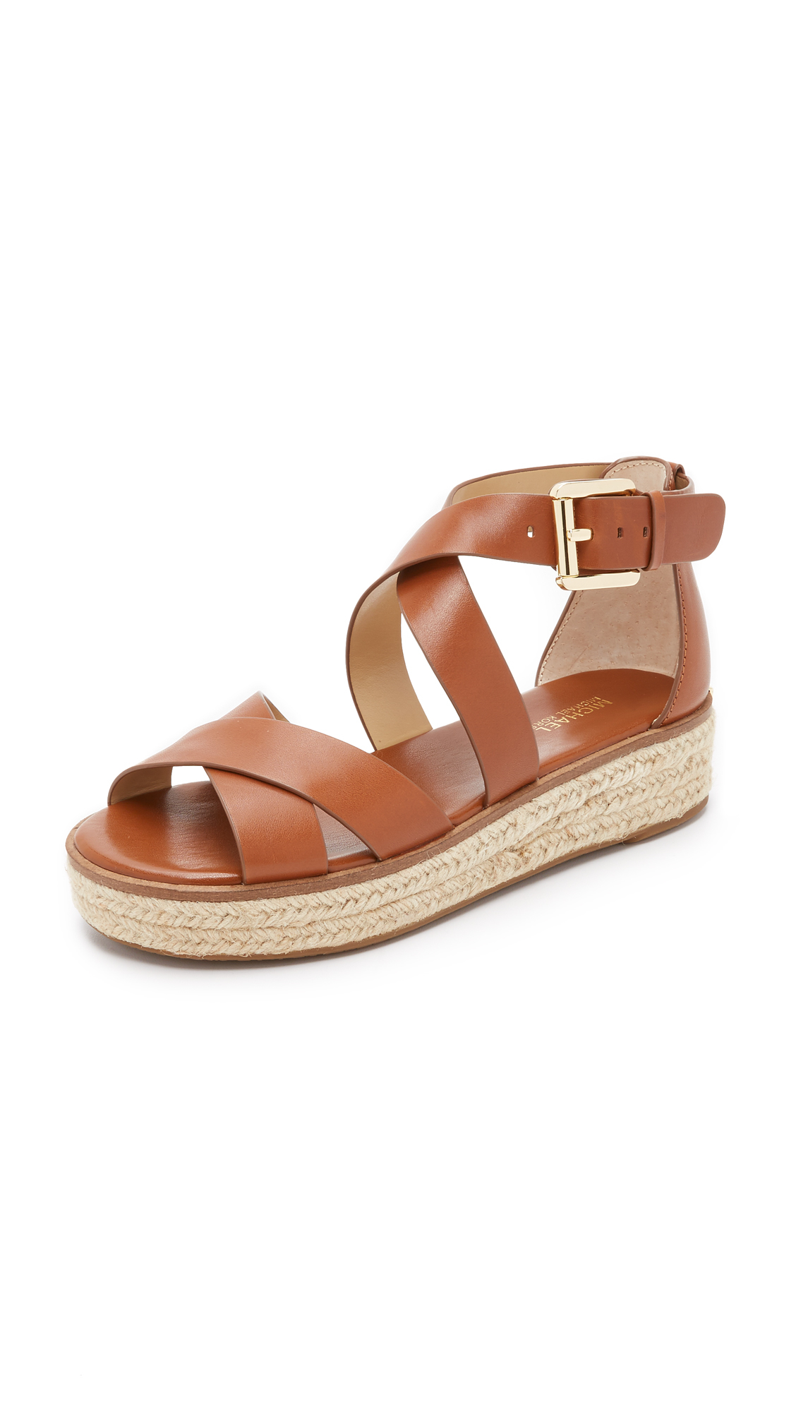 Michael michael kors Darby Sandals in Brown | Lyst