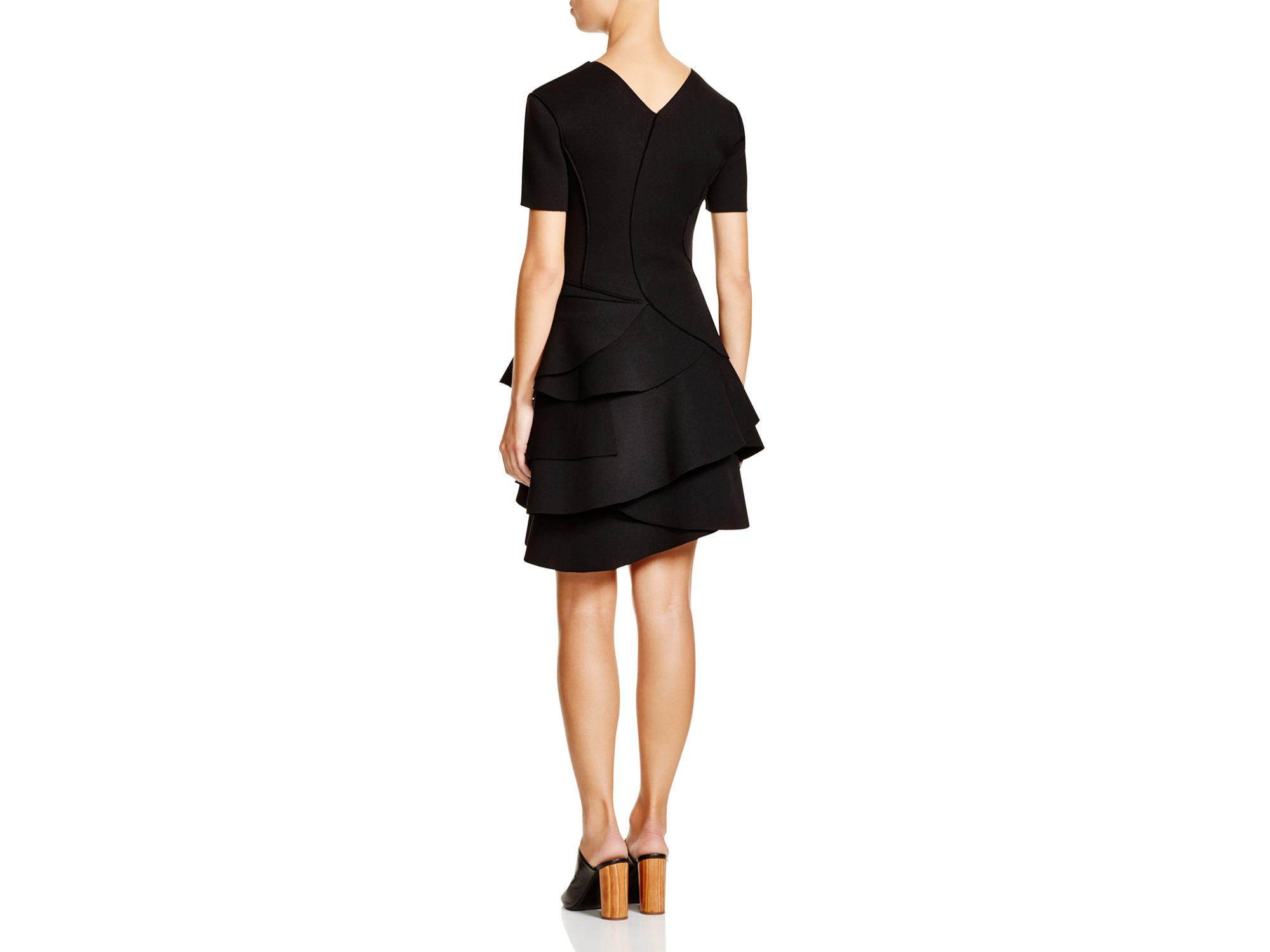 Black tiered ruffle dress