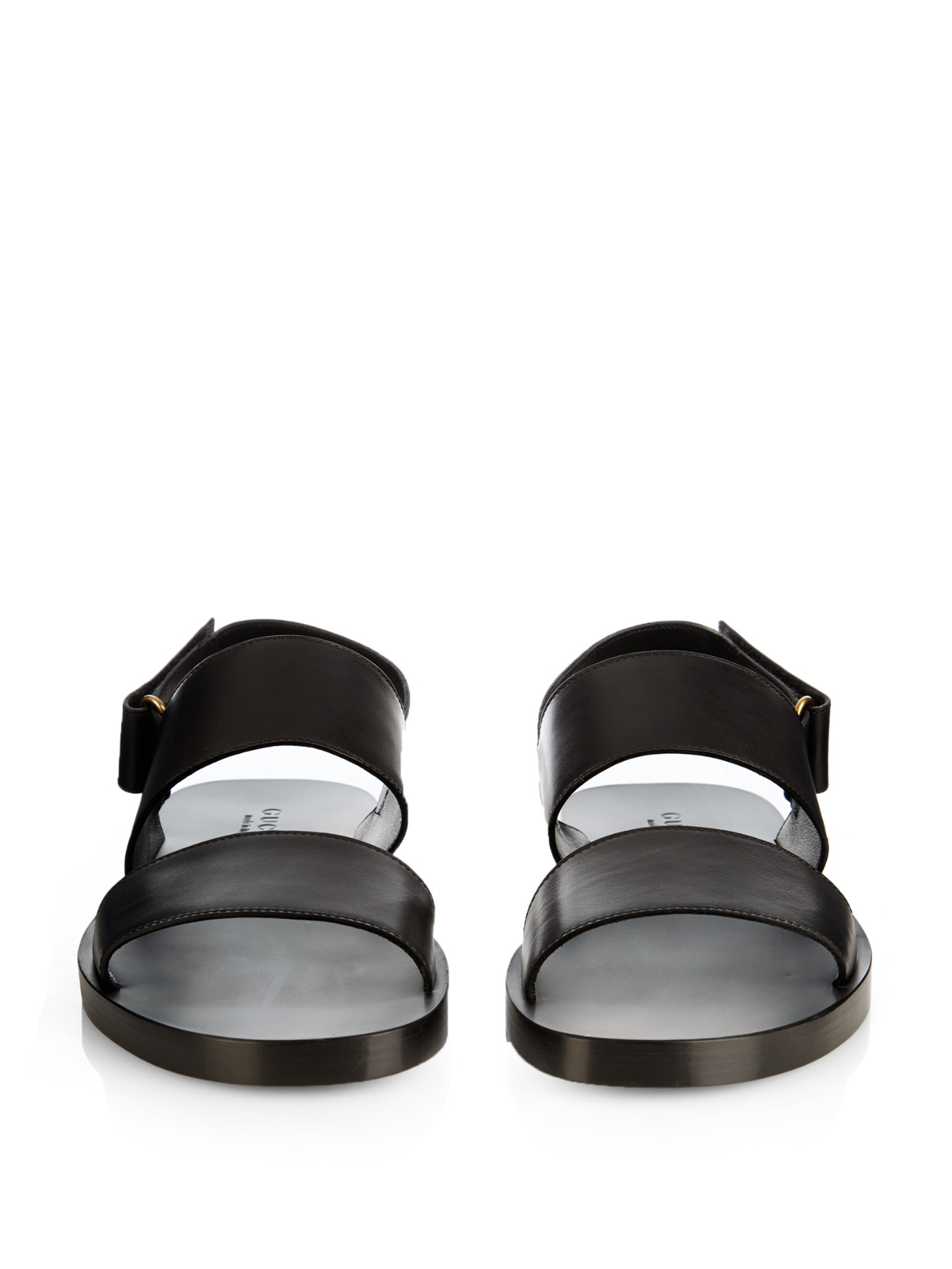 Gucci Double-Strap Leather Sandals in