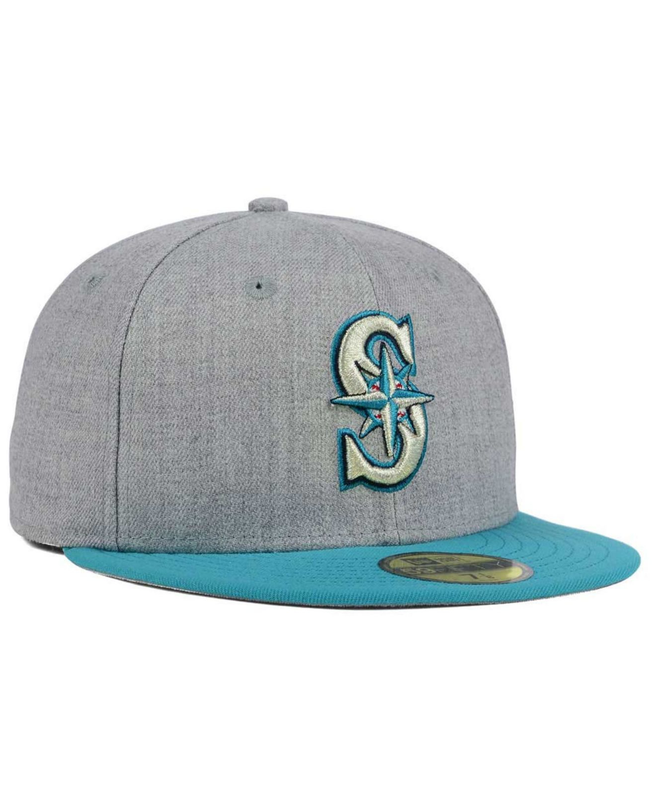 buy popular c4ac7 163db ... free shipping lyst ktz seattle mariners heather team color 59fifty cap  in gray a5059 6f45a