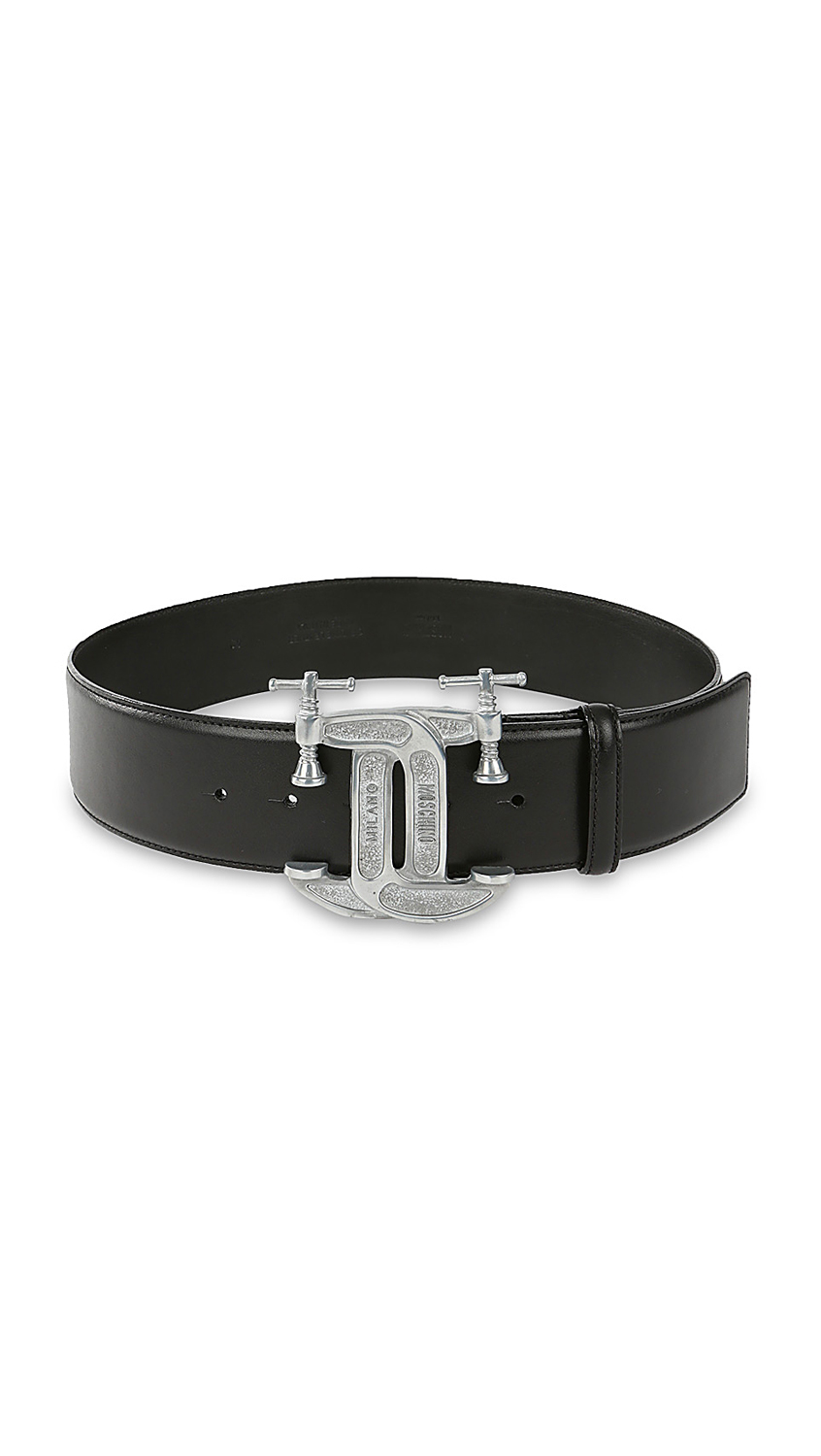moschino leather belt in black lyst