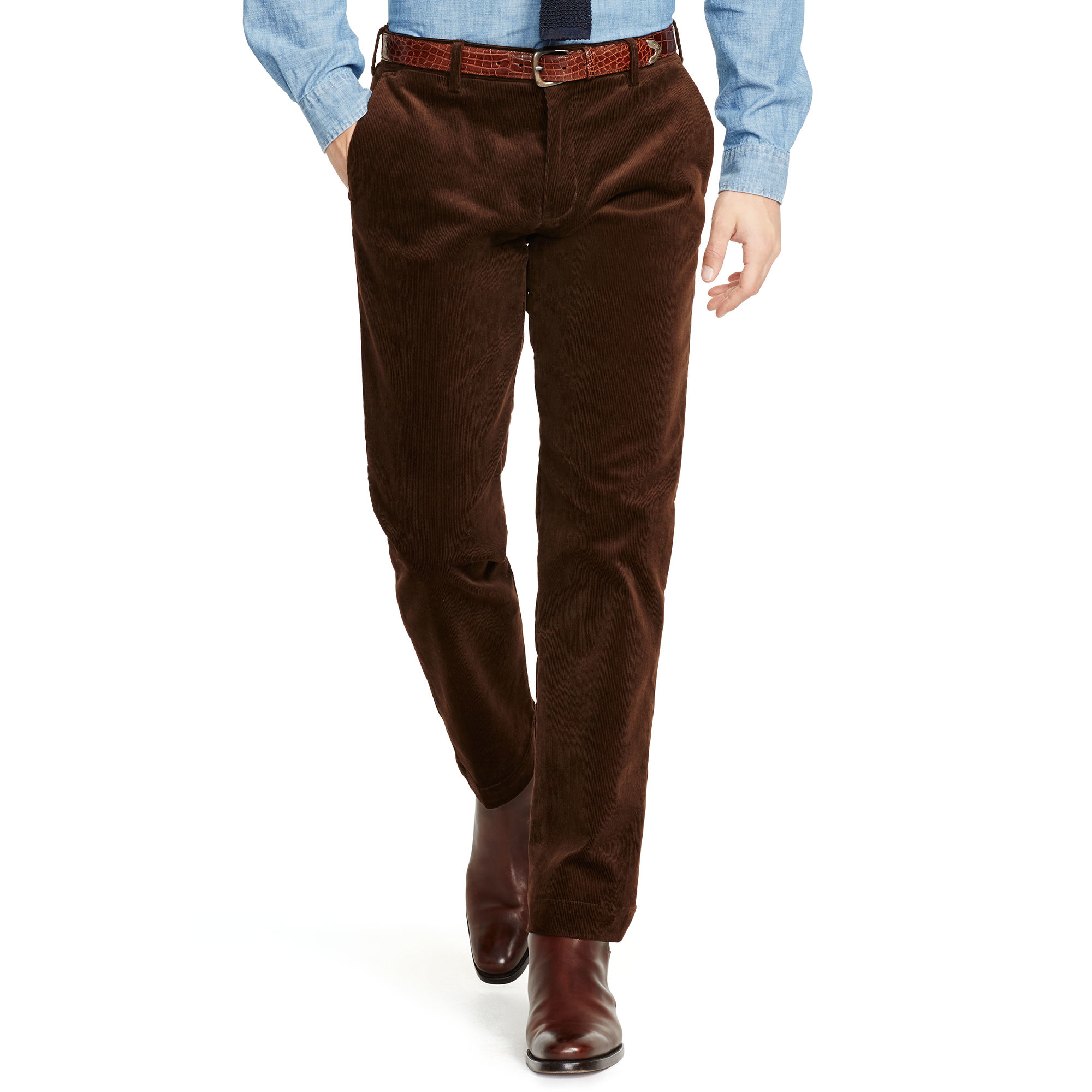 Polo Ralph Lauren Slim Fit Stretch Corduroy Pant In Brown
