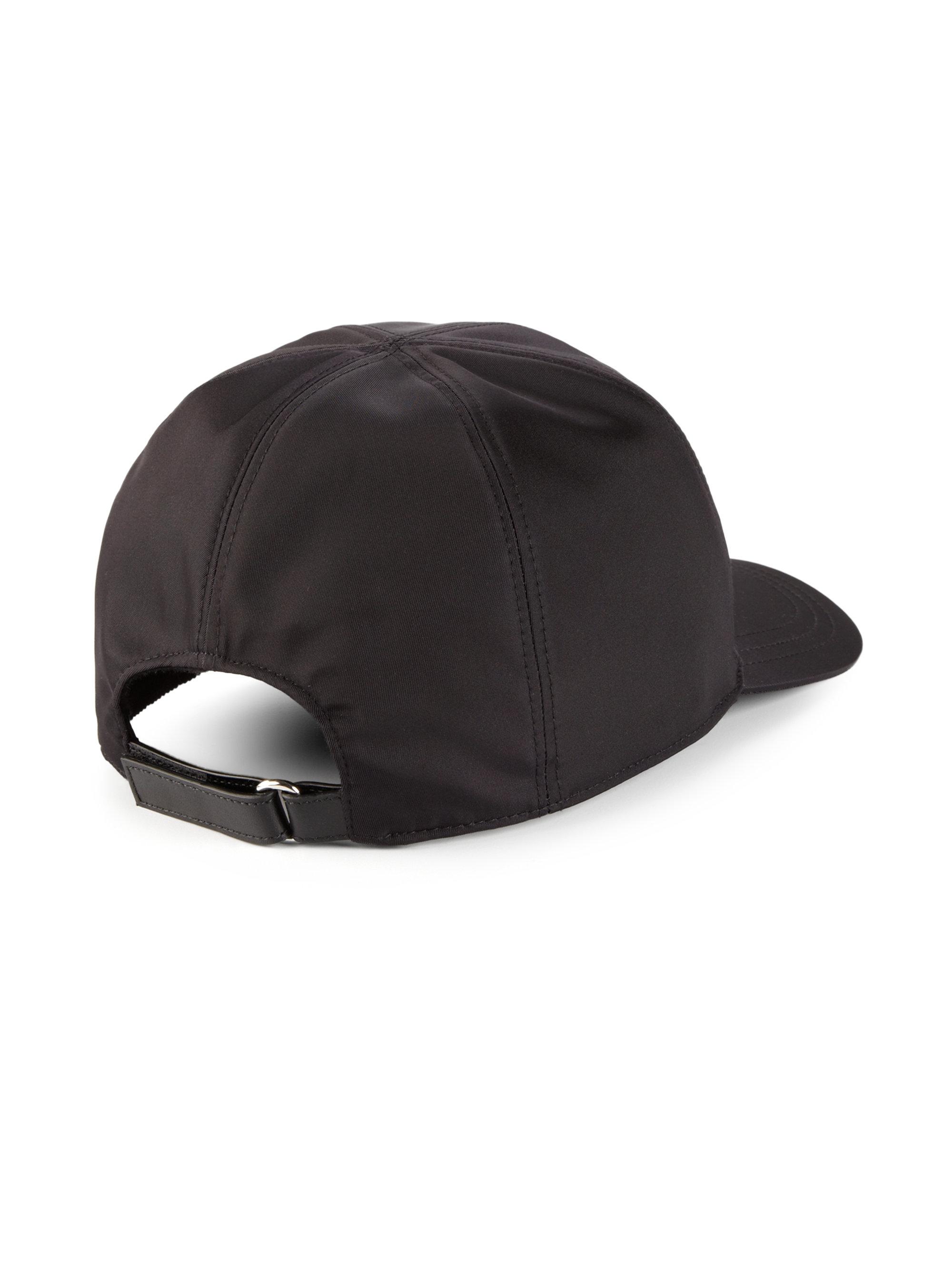 Lyst - Prada Nylon   Calf Leather Baseball Cap in Black for Men 1f4b735c156