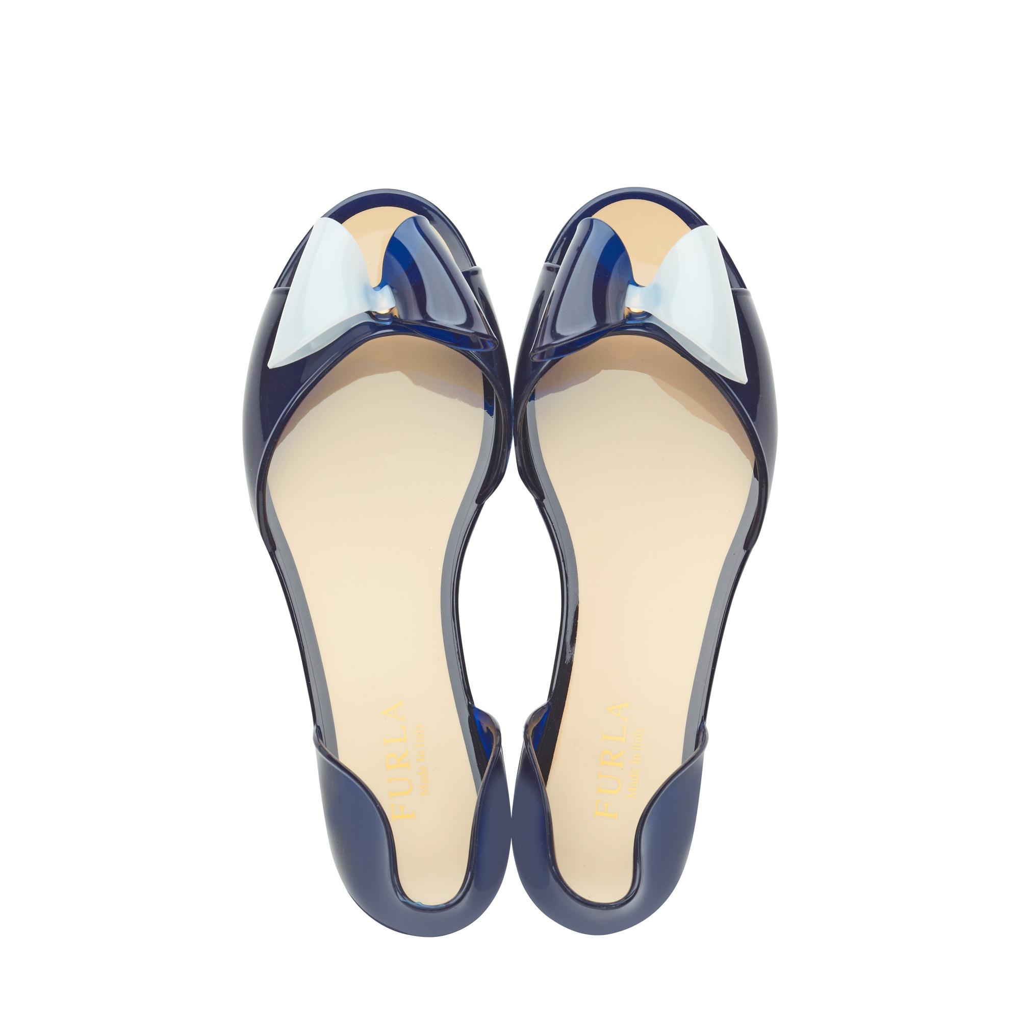 2be4622273b2 Furla Alissa Jelly Sandals in Blue - Lyst