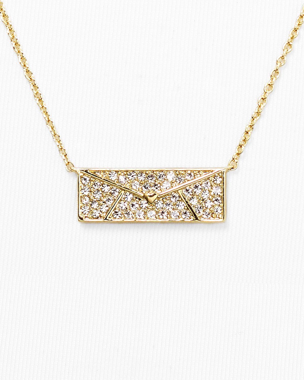 Lyst nadri love letter pendant necklace 24 in metallic gallery aloadofball Choice Image