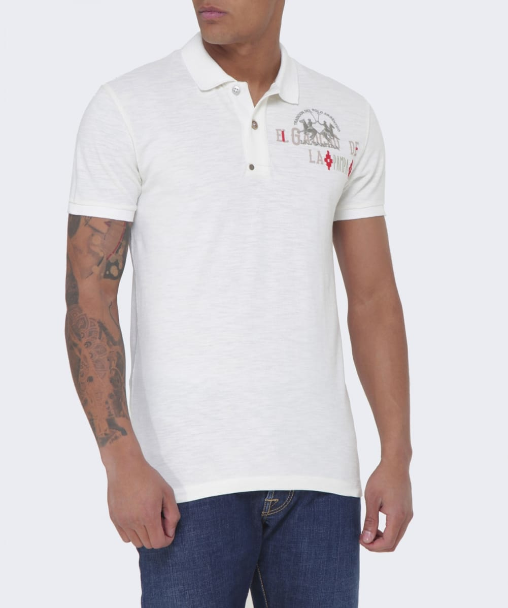 La Martina Slim Fit Fierro Polo Shirt In White For Men Lyst
