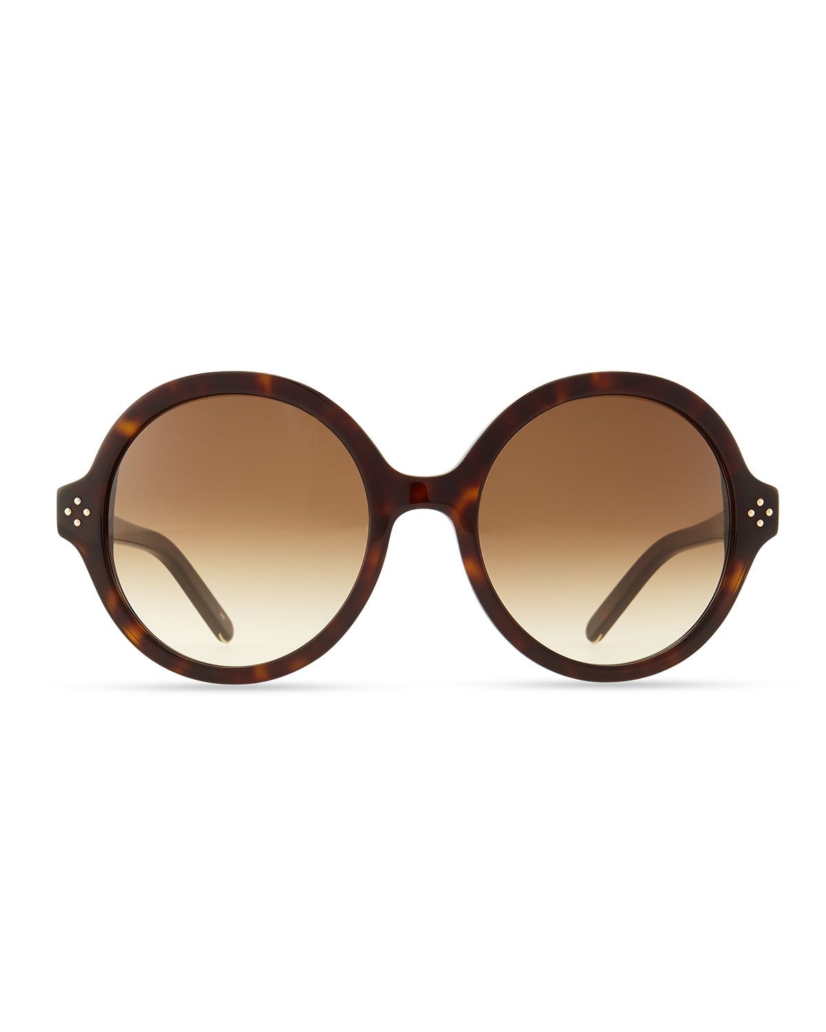 f90eb8fe1c Chloé Brown Boxwood Round Sunglasses