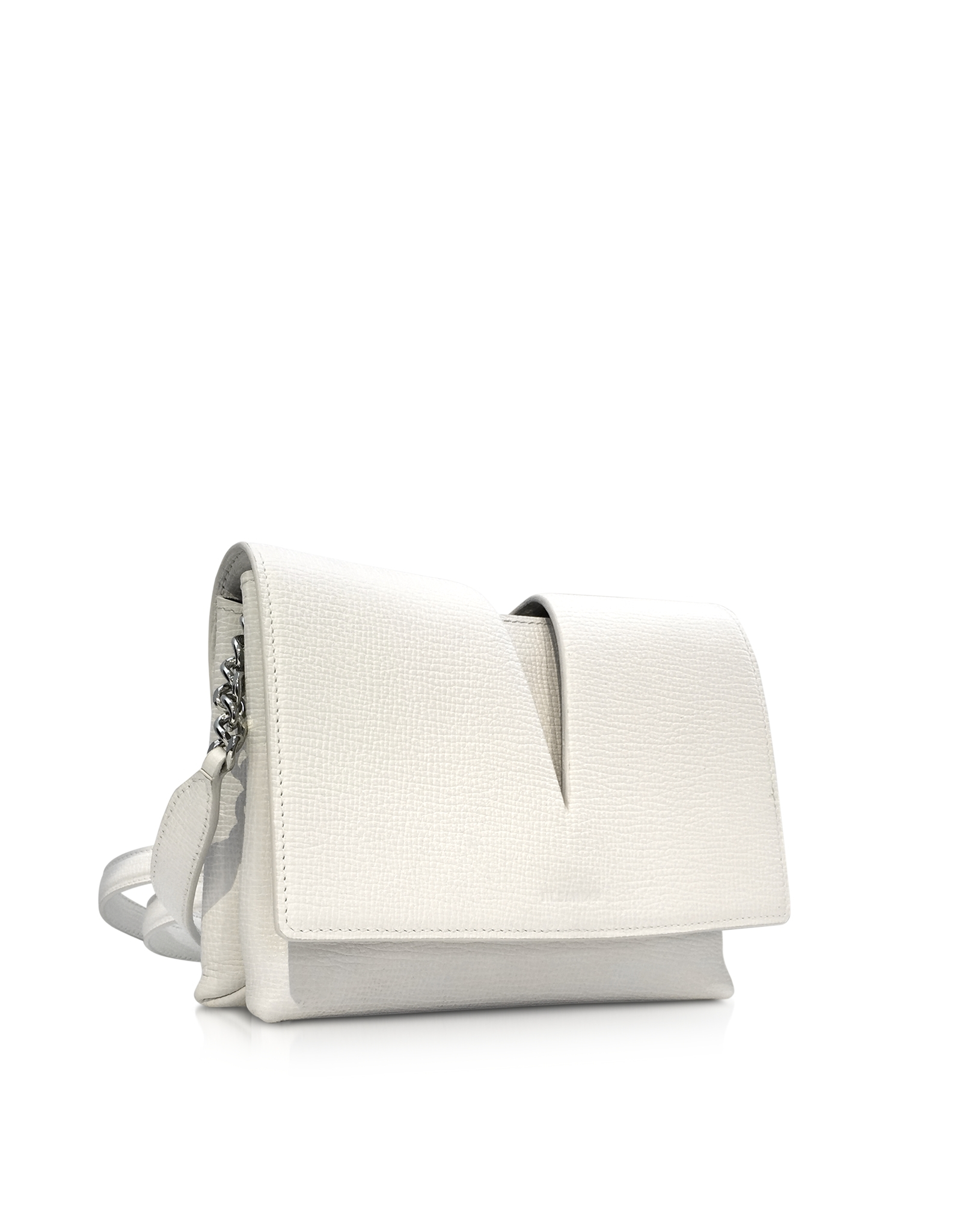Jil sander View Small White Leather Shoulder Bag in White | Lyst