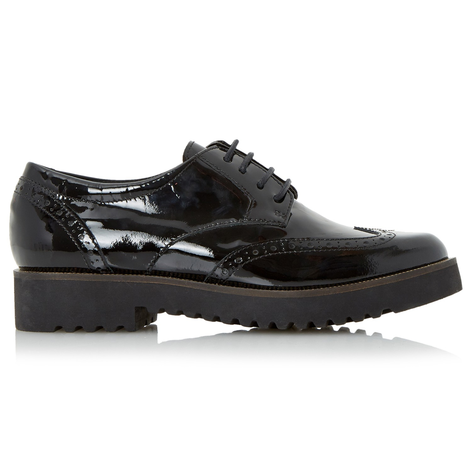 Dune Feean Chunky Sole Lace Up Brogues In Black Lyst