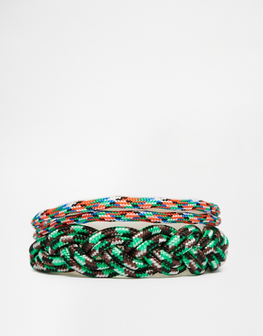 asos paracord bracelet pack for lyst