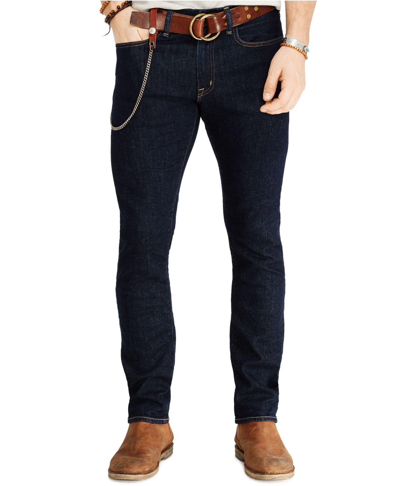 Denim & supply ralph lauren Low Skinny Hale Jeans in Blue ...