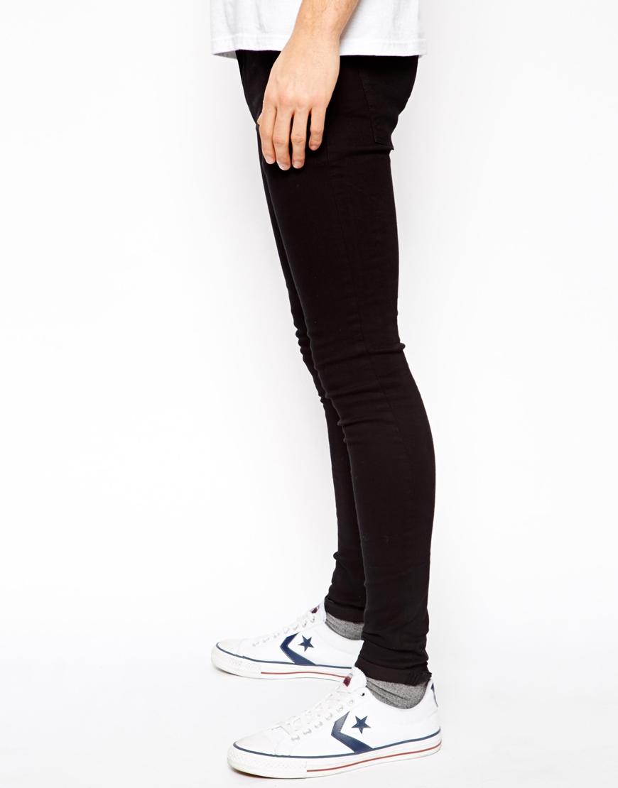 Asos Extreme Super Skinny Jeans In Black in Black for Men | Lyst