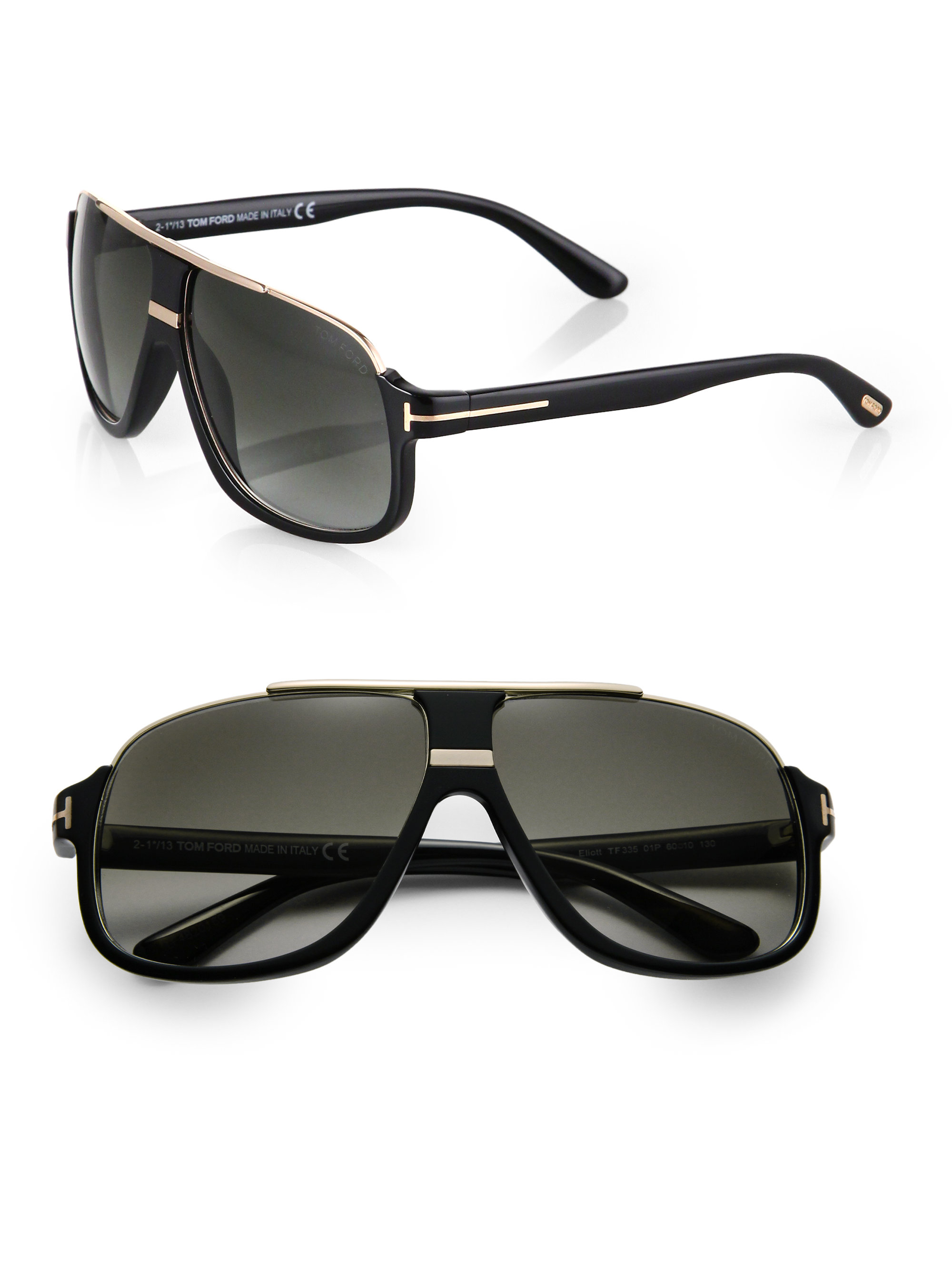Lyst Tom Ford Eliot Sunglasses In Black For Men