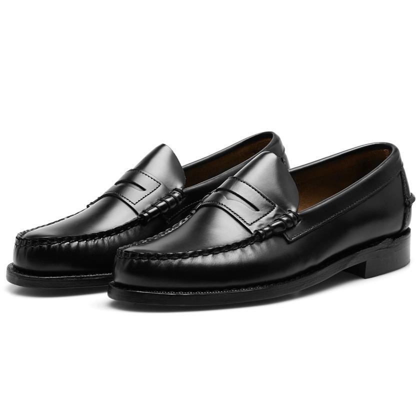 Sebago Classic Black Penny Loafers In Black For Men Lyst