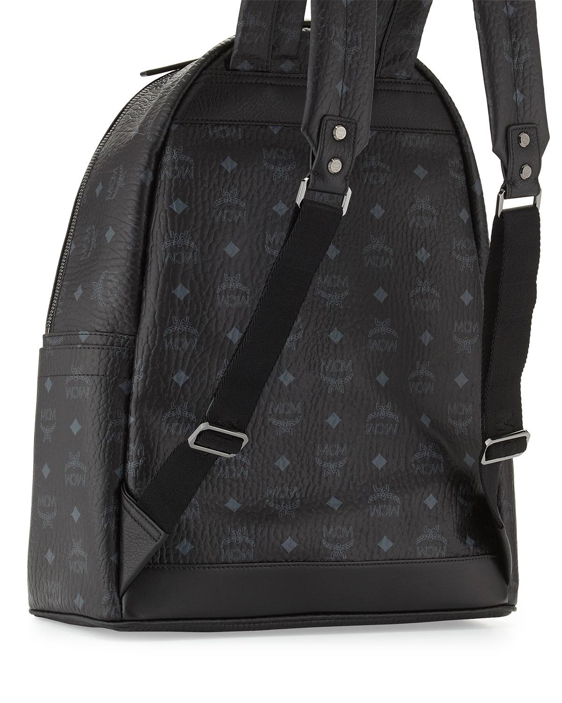 Lyst - MCM Stark No Stud Men s Medium Backpack in Black for Men 7a280dbf9e31f