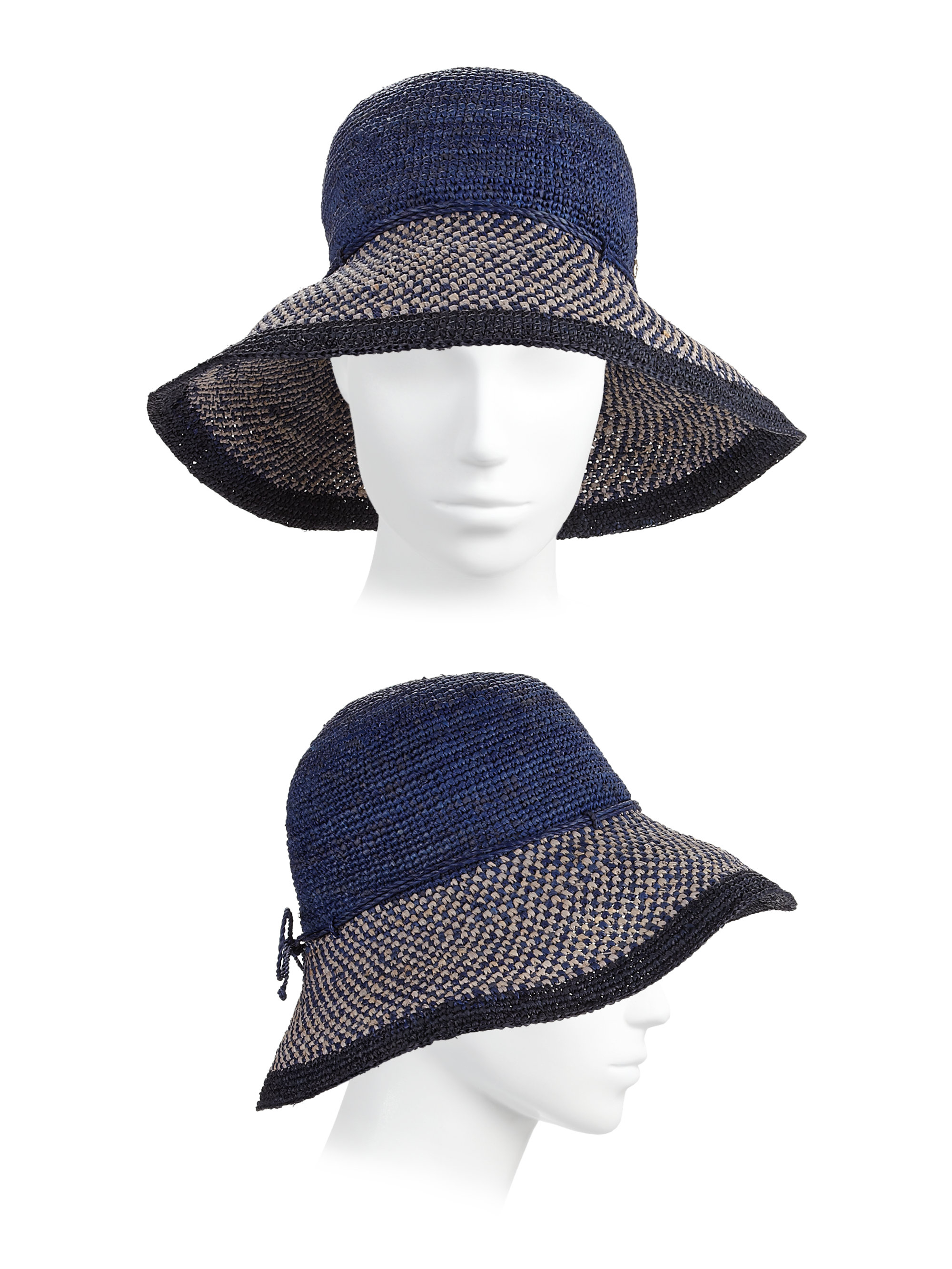 196f355049ccc Helen Kaminski Provence 10 Raffia Sun Hat in Blue - Lyst