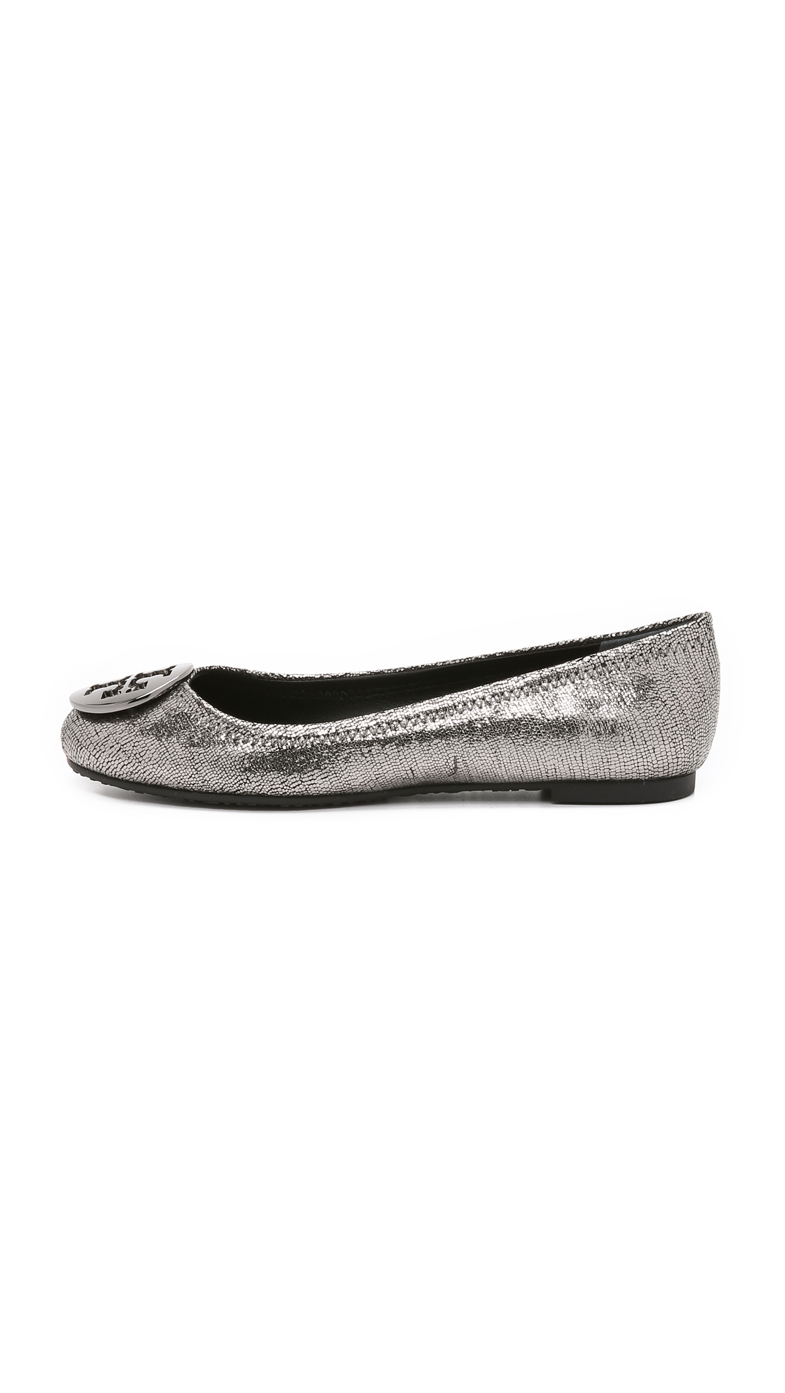 Tory Burch Foiled Leather Flats discount for sale sale shopping online outlet lowest price 1TsYCgE