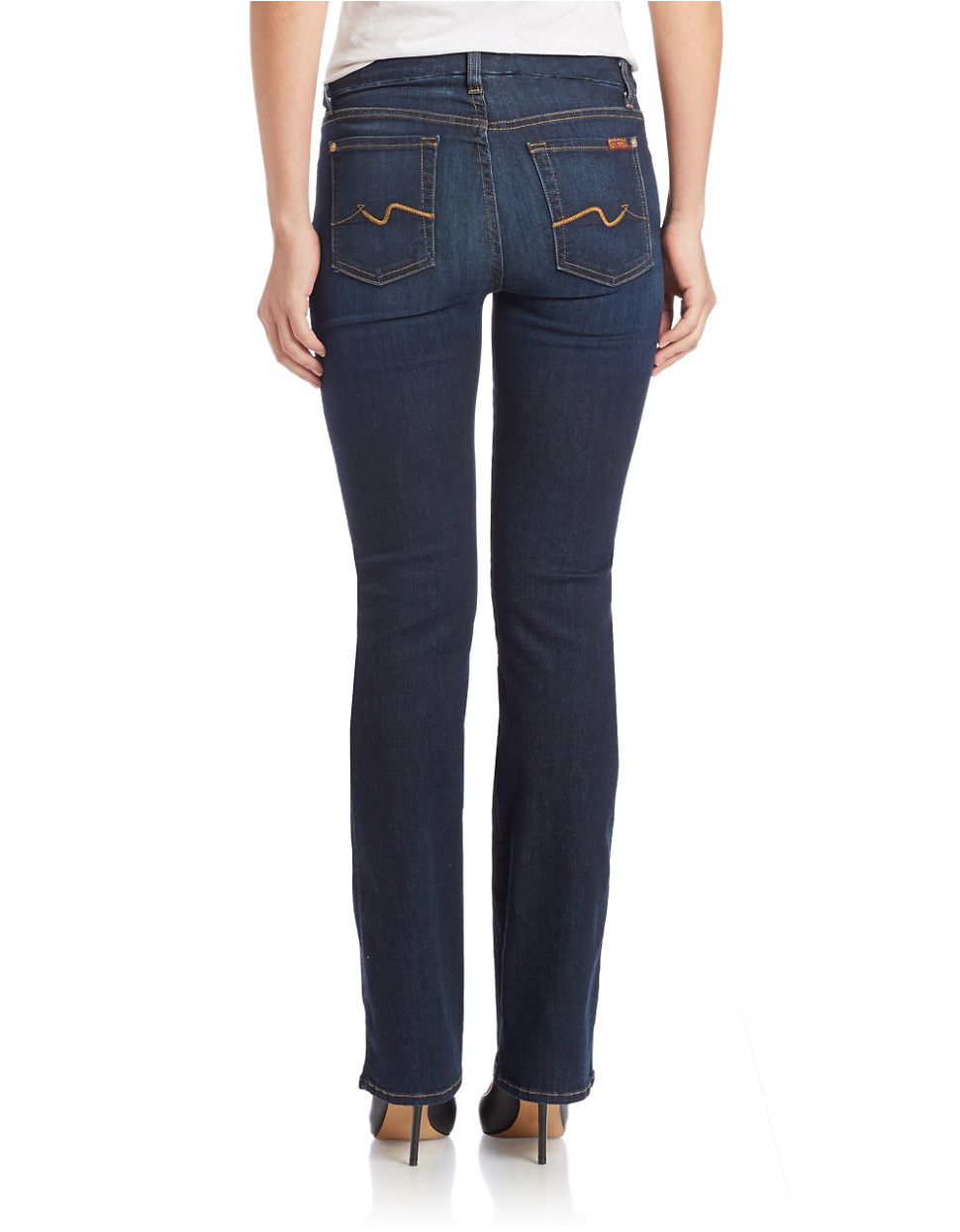 7 for all mankind kimmie bootcut jeans in blue slim illusion tried true lyst. Black Bedroom Furniture Sets. Home Design Ideas