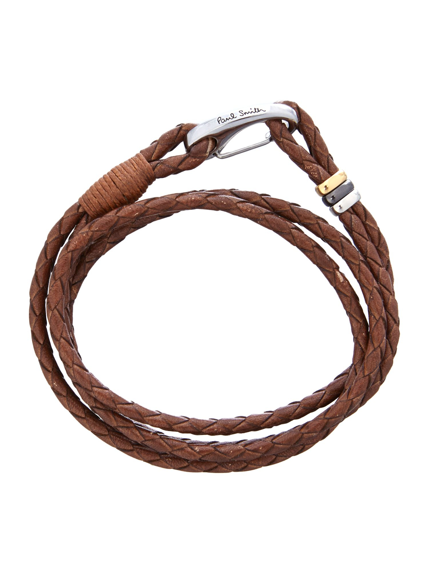 Paul Smith Triple-wrap leather bracelet ZeimFkx0Z5