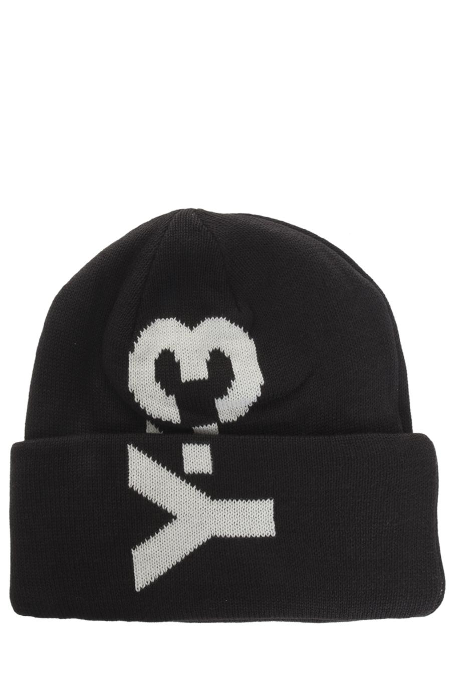 Lyst - Y-3 Logo Beanie in Black for Men bb9742a66a93