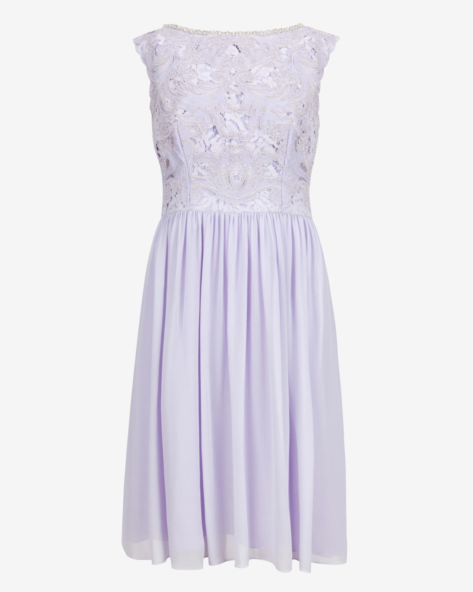 a90df494d Ted baker embellished lace bodice dress in purple lyst jpg 1600x2000 Ted  baker lavender dress