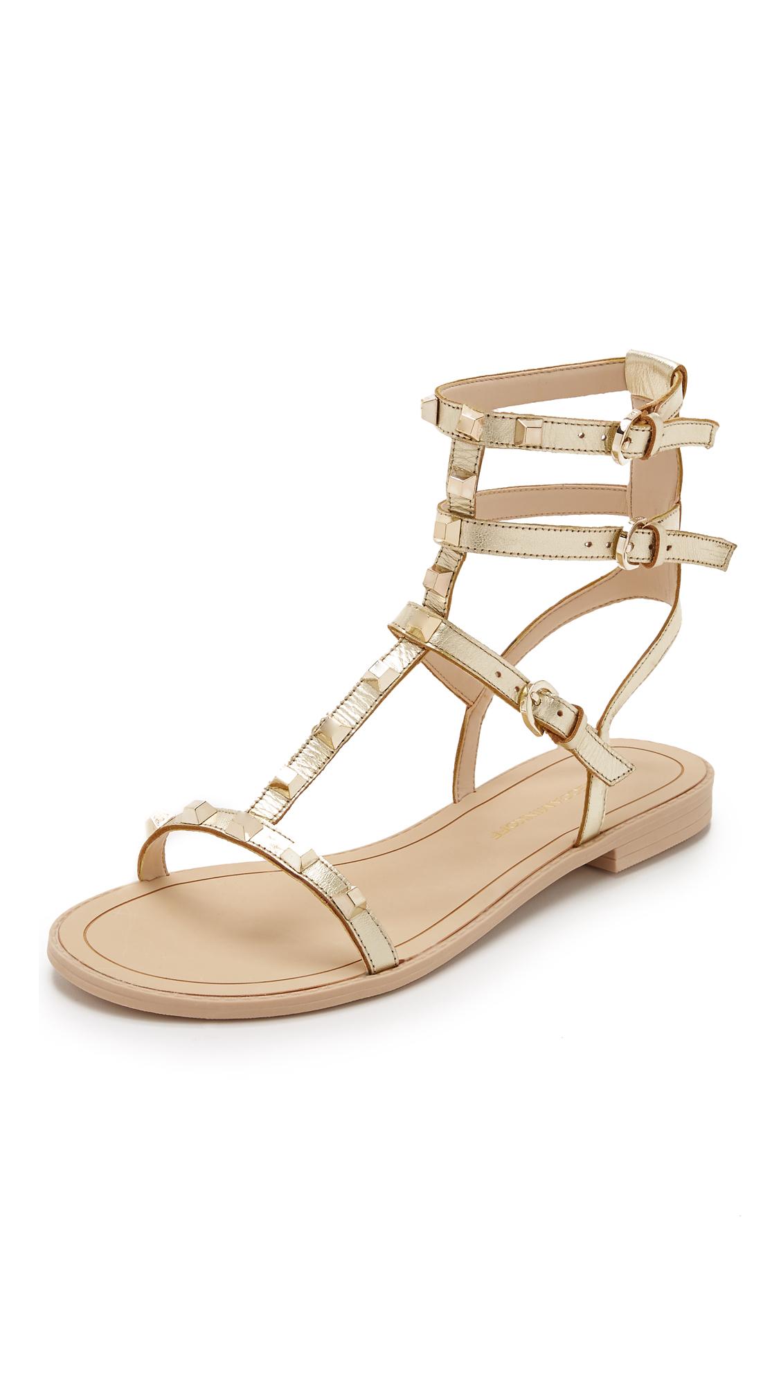 Lyst Rebecca Minkoff Georgina Studded Sandals In Metallic