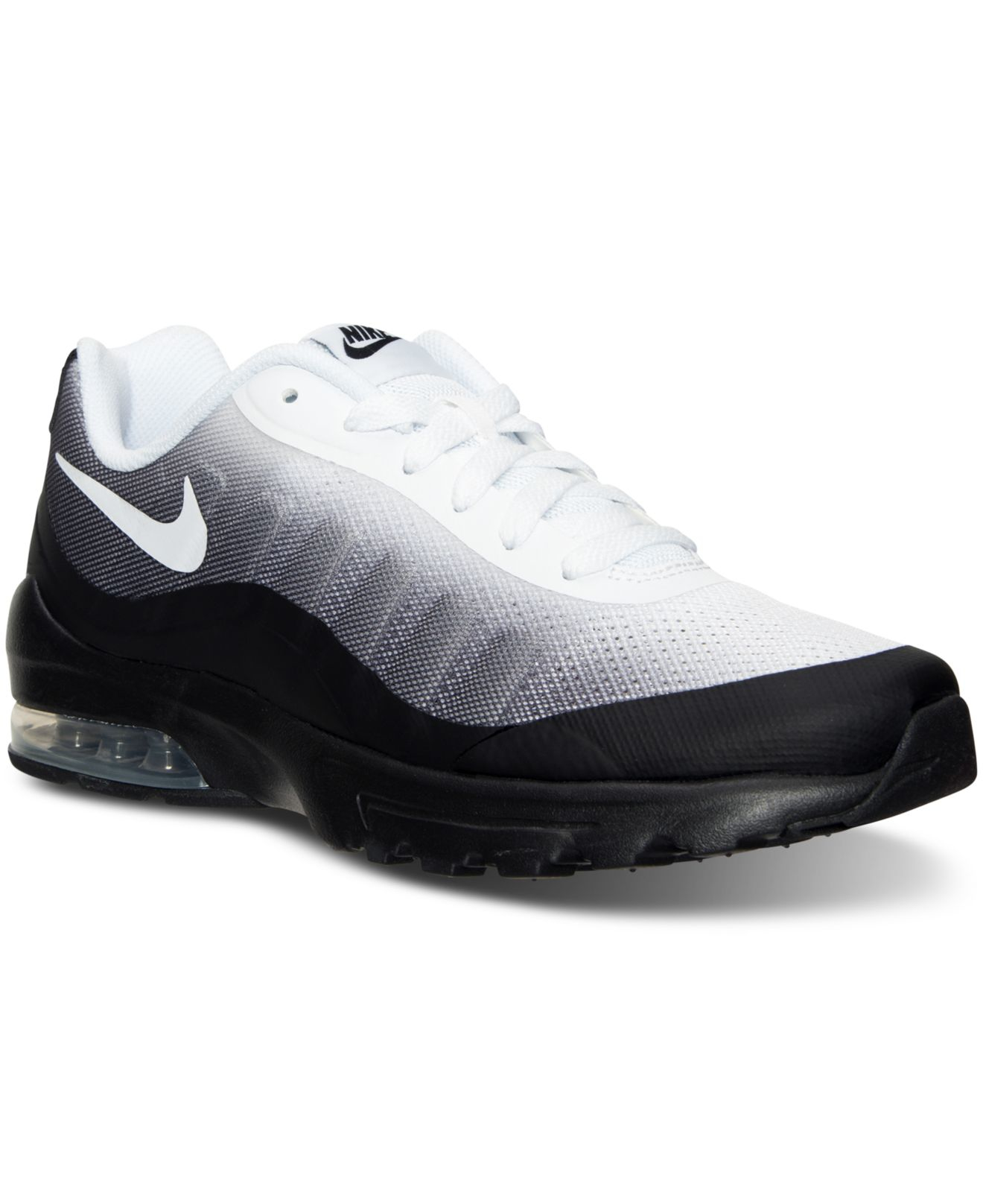 nike men 39 s air max invigor print running sneakers from finish line in black for men lyst. Black Bedroom Furniture Sets. Home Design Ideas