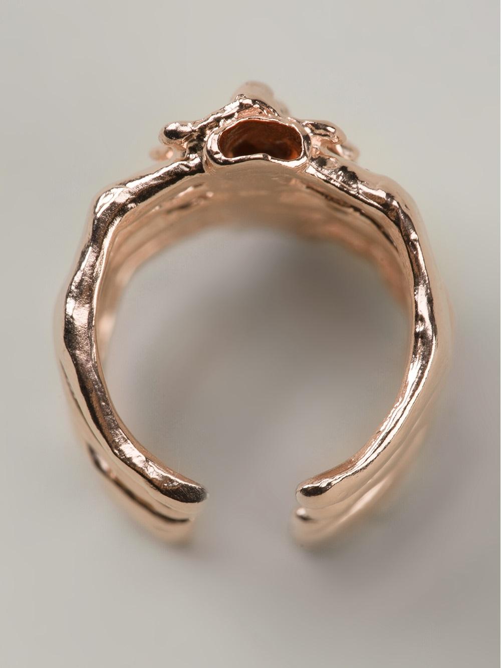 Bjorg After Eden Spine Ring in Metallic