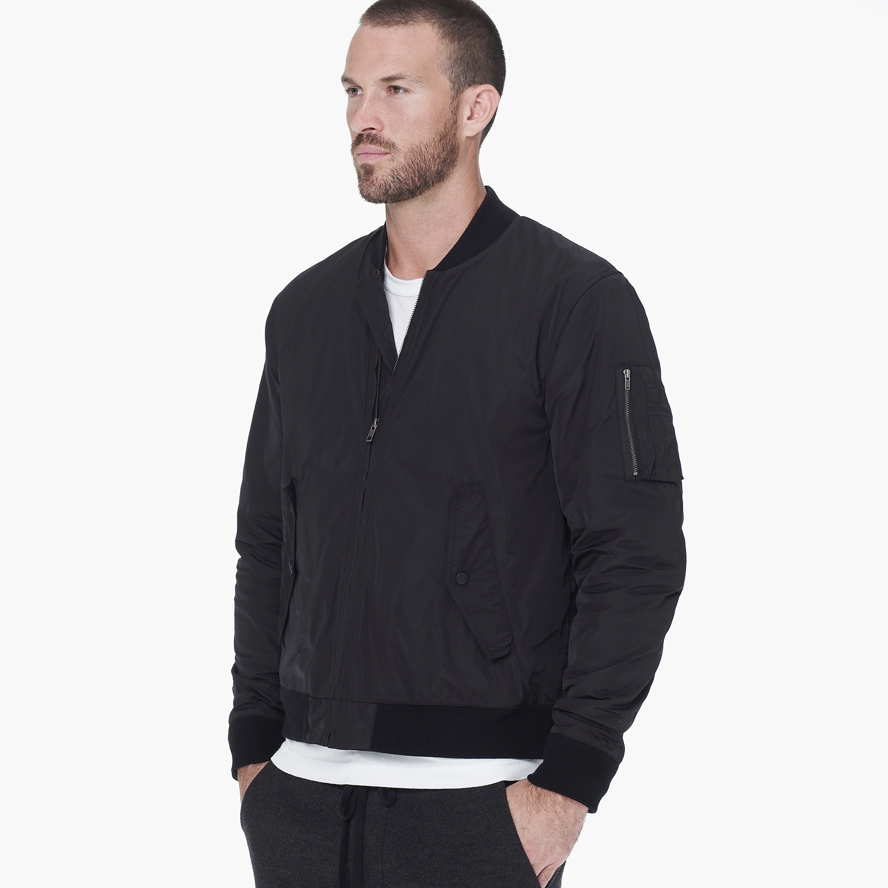 James perse Vintage Bomber Jacket in Gray for Men | Lyst