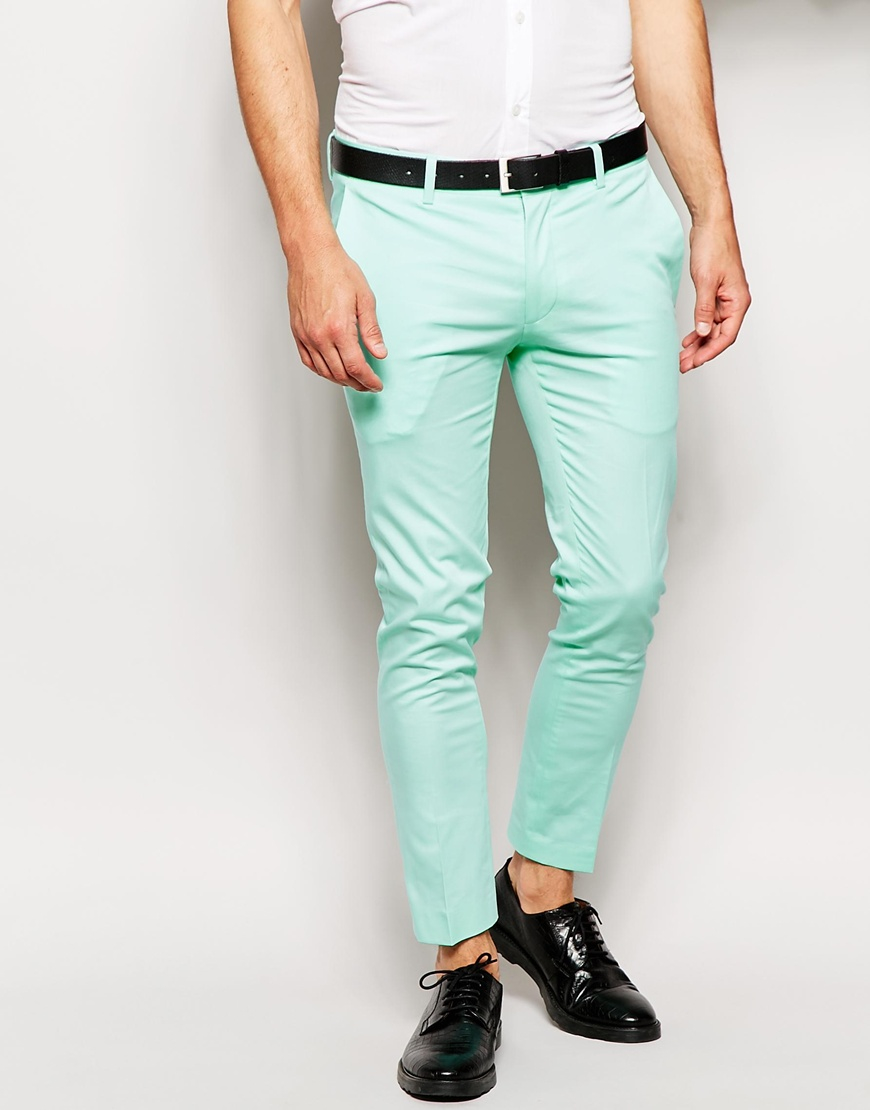 mens mint green pants - Pi Pants