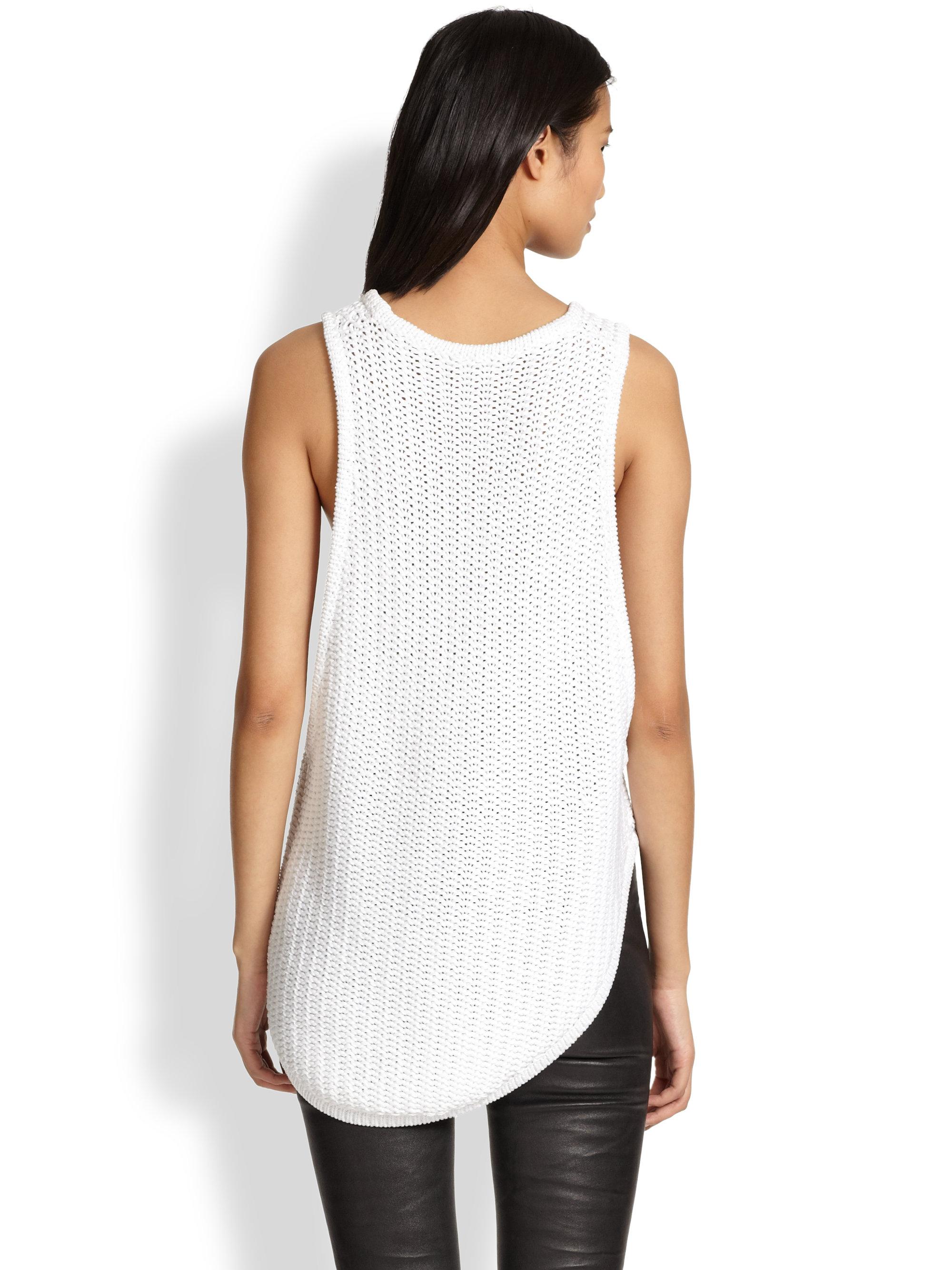 Lyst Helmut Lang Asymmetrical Sleeveless Sweater Tunic