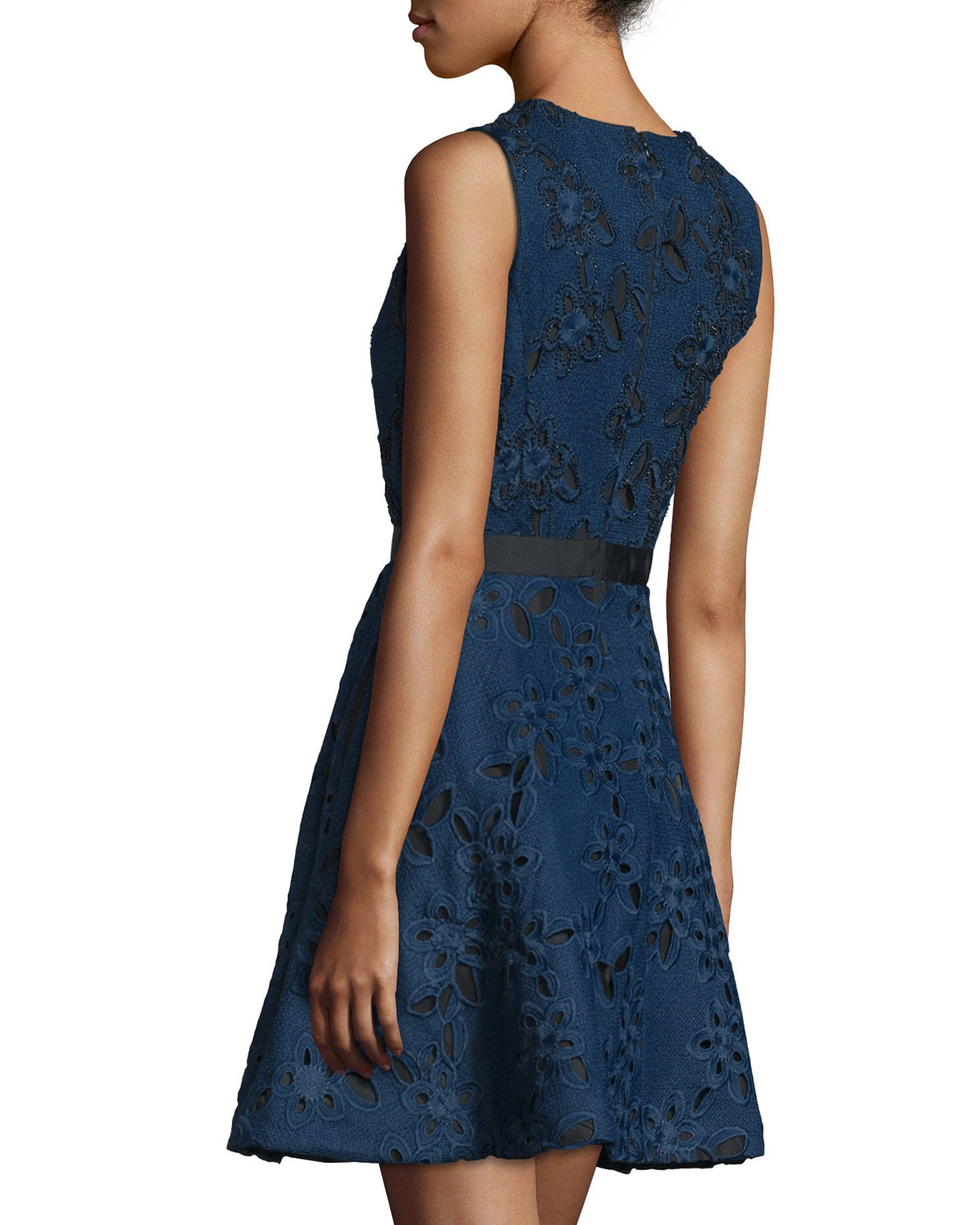 Lyst Cynthia Rowley Sleeveless Fit Amp Flare Lace Dress In