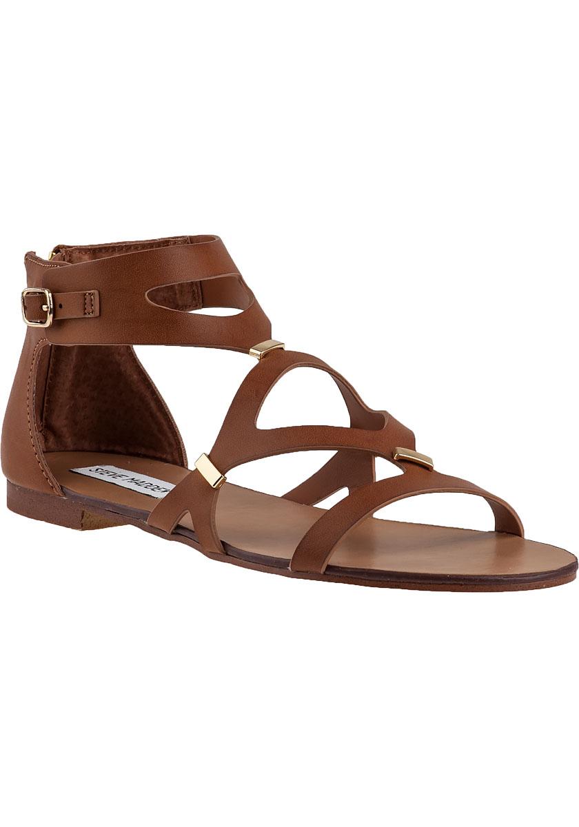 steve madden comma gladiator sandal cognac in brown lyst. Black Bedroom Furniture Sets. Home Design Ideas